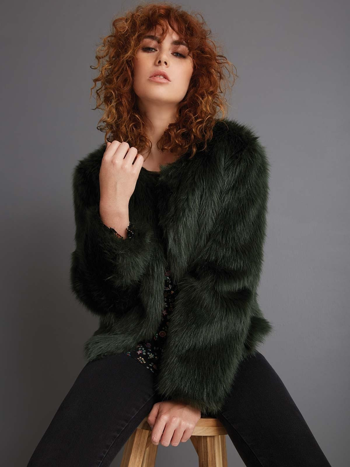 Faux fur will ensure that your winter coat is warm as well as chic.