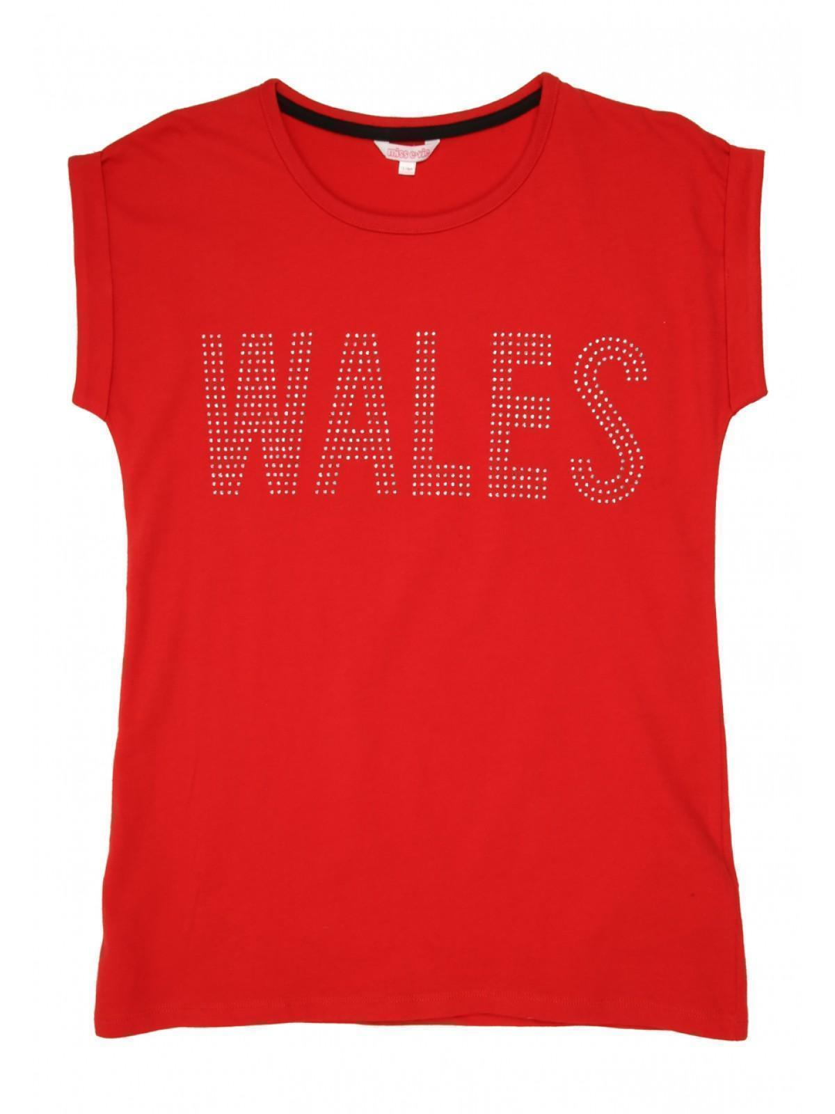 2a806cfe3 Home; Older Girls Red Wales T Shirt. Back. PreviousNext