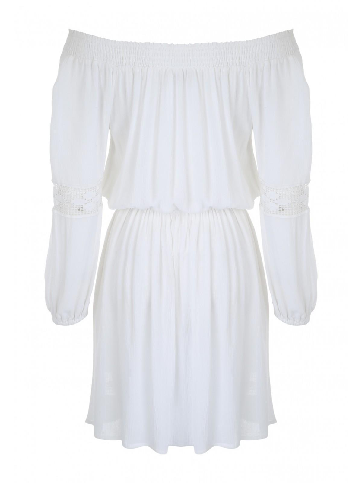 Womens White Cheesecloth Gypsy Dress - Peacocks