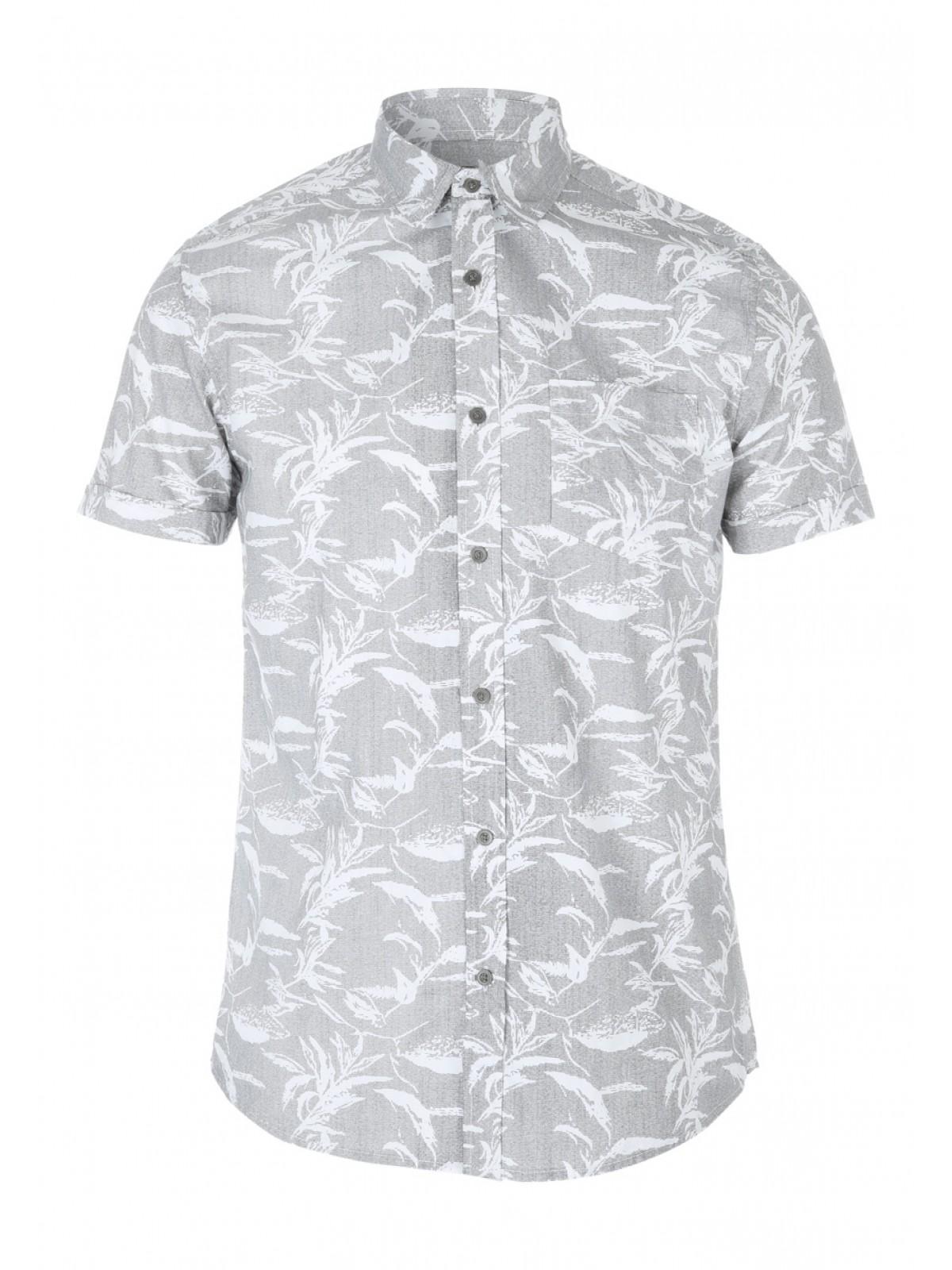 361d83368a05 Home; Mens Textured Floral Short Sleeve Shirt. Back. PreviousNext