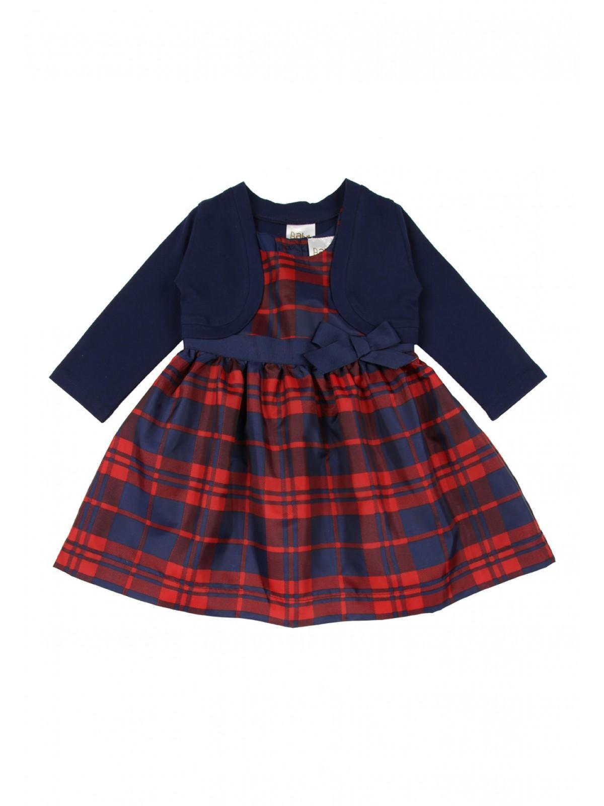 8e40a83b66 Home; Baby Girls Tartan Dress And Shrug. Back. PreviousNext