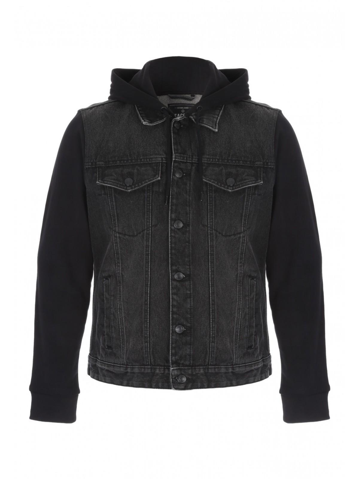 Black denim jacket mens uk