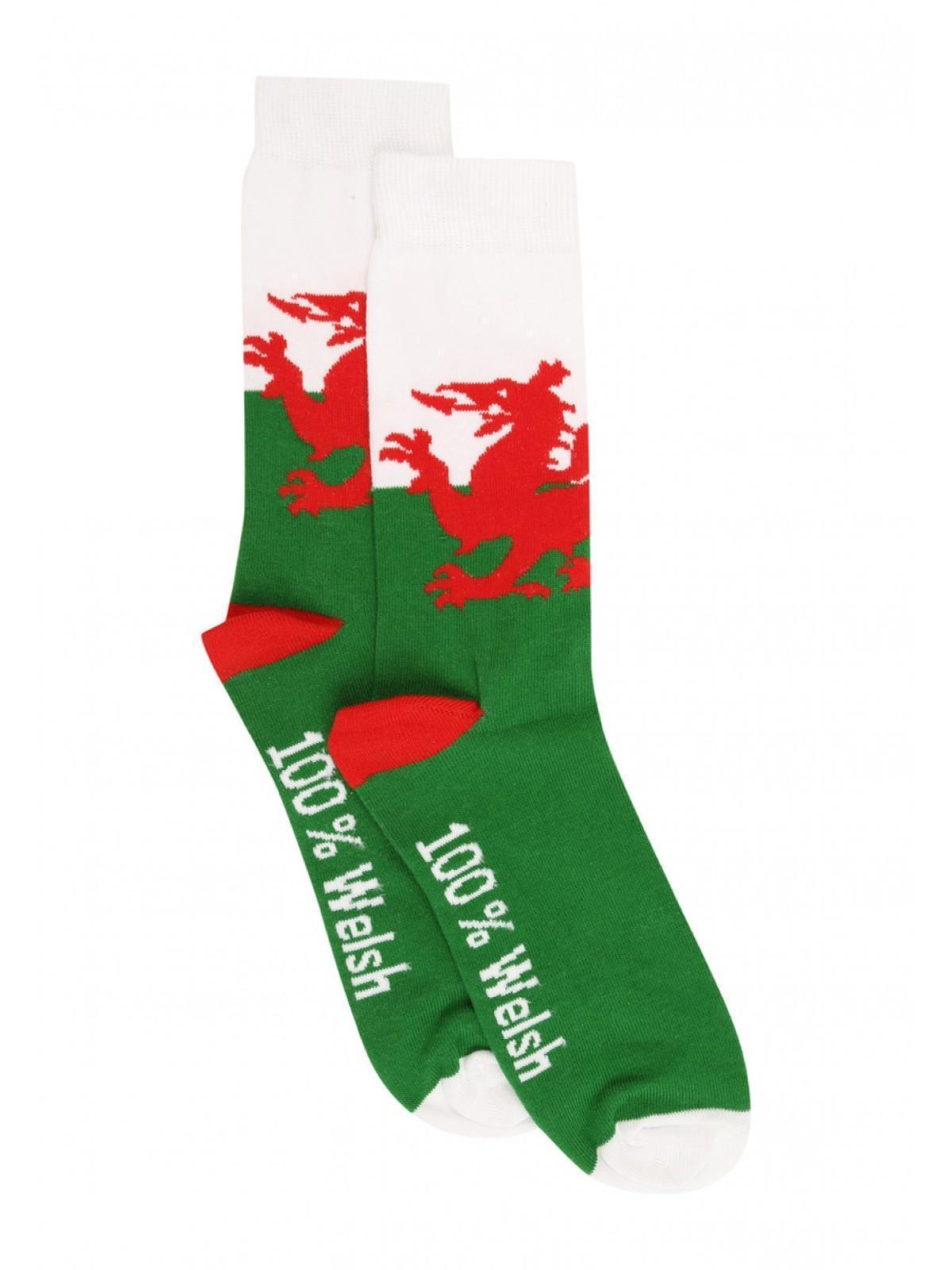 Mens Novelty Wales Socks