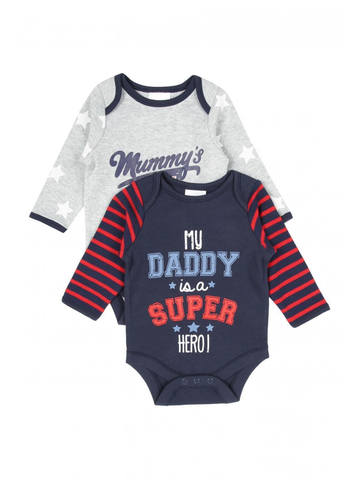 Boys aby Boys 2pk Mummy Daddy Bodysuits