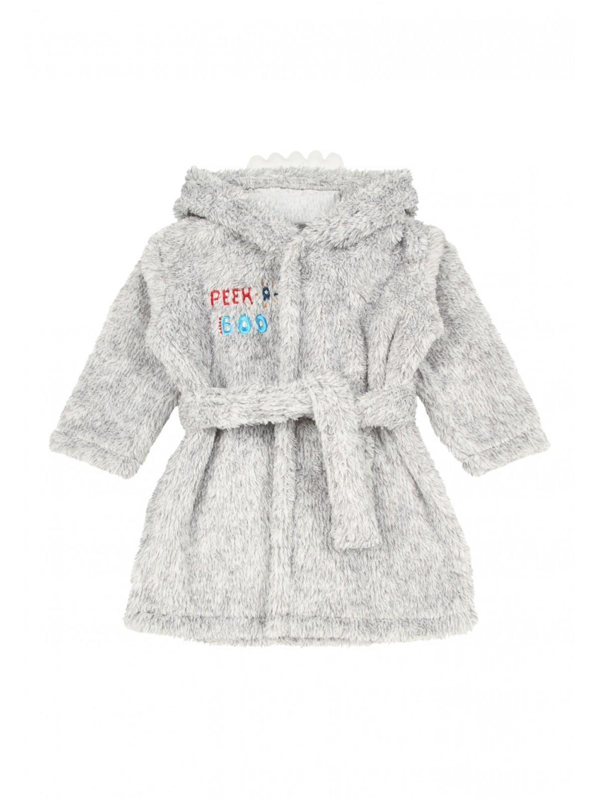 Baby Boys Grey Monster Dressing Gown and Slipper Set | Peacocks