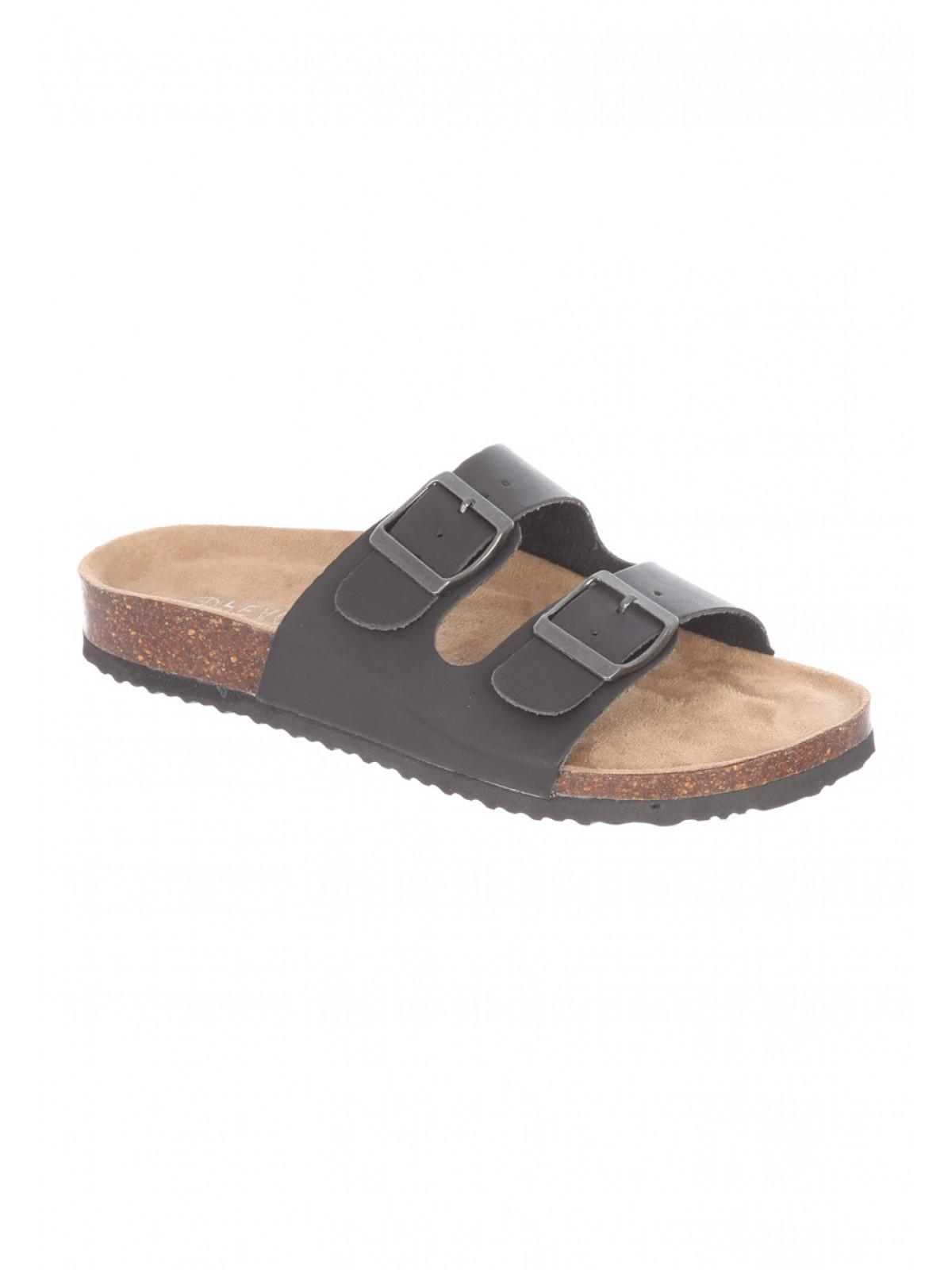 Black sandals peacocks