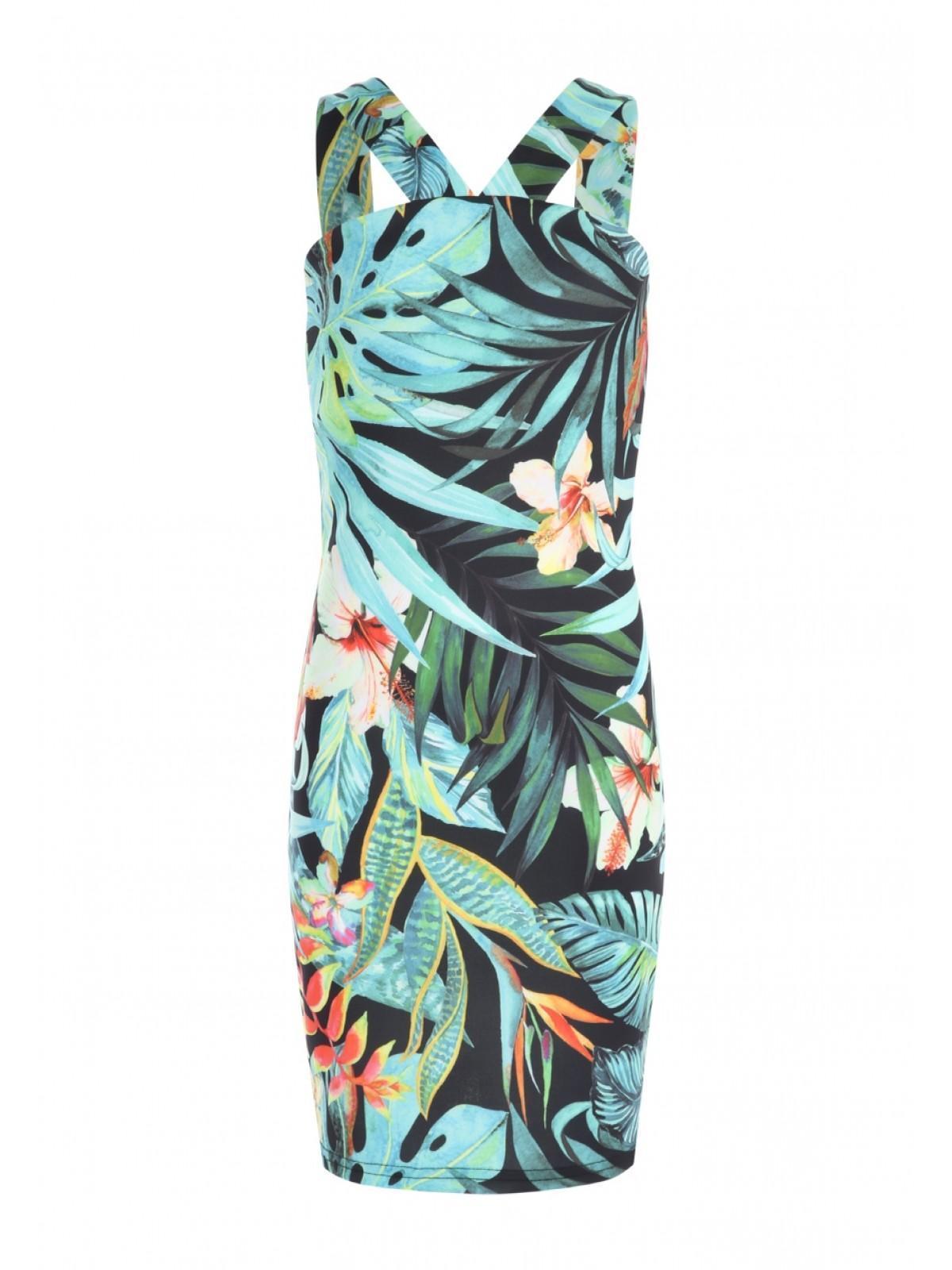 863de8e8f Girls Older Girls Palm Tree Printed Cross Front Sophie Dress