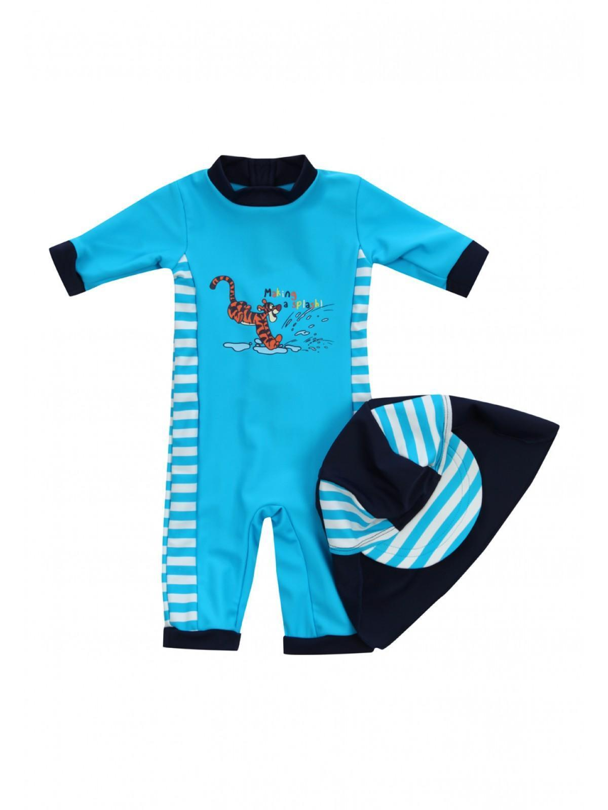 Boys Young Boys Disney Swim Protection Suit and Hat