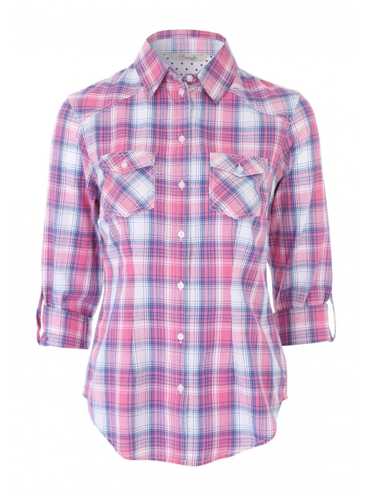 Womens Pink Roll Up Check Shirt | Peacocks