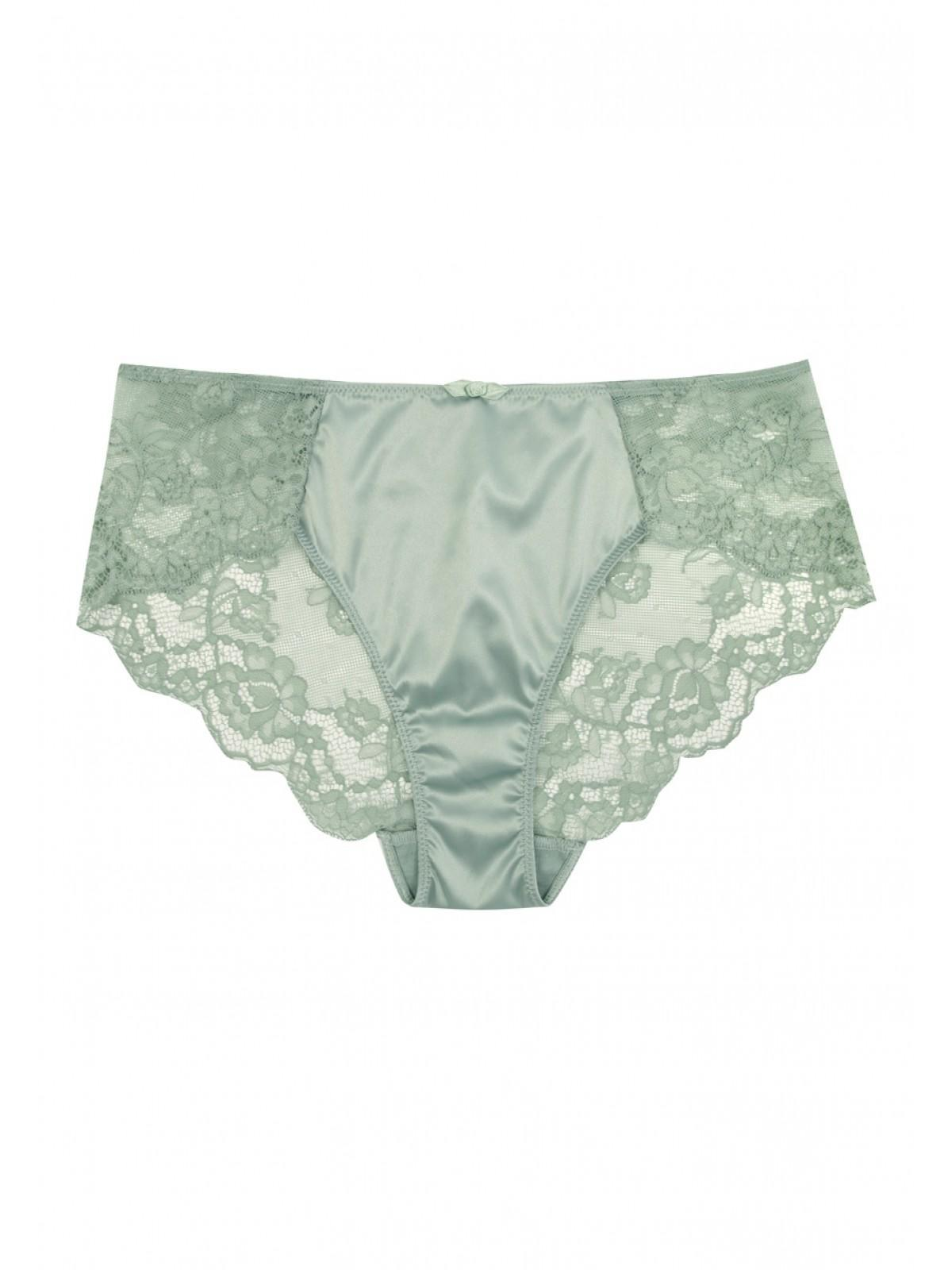 Womens Sage Lace Satin Briefs  ea94aa0541