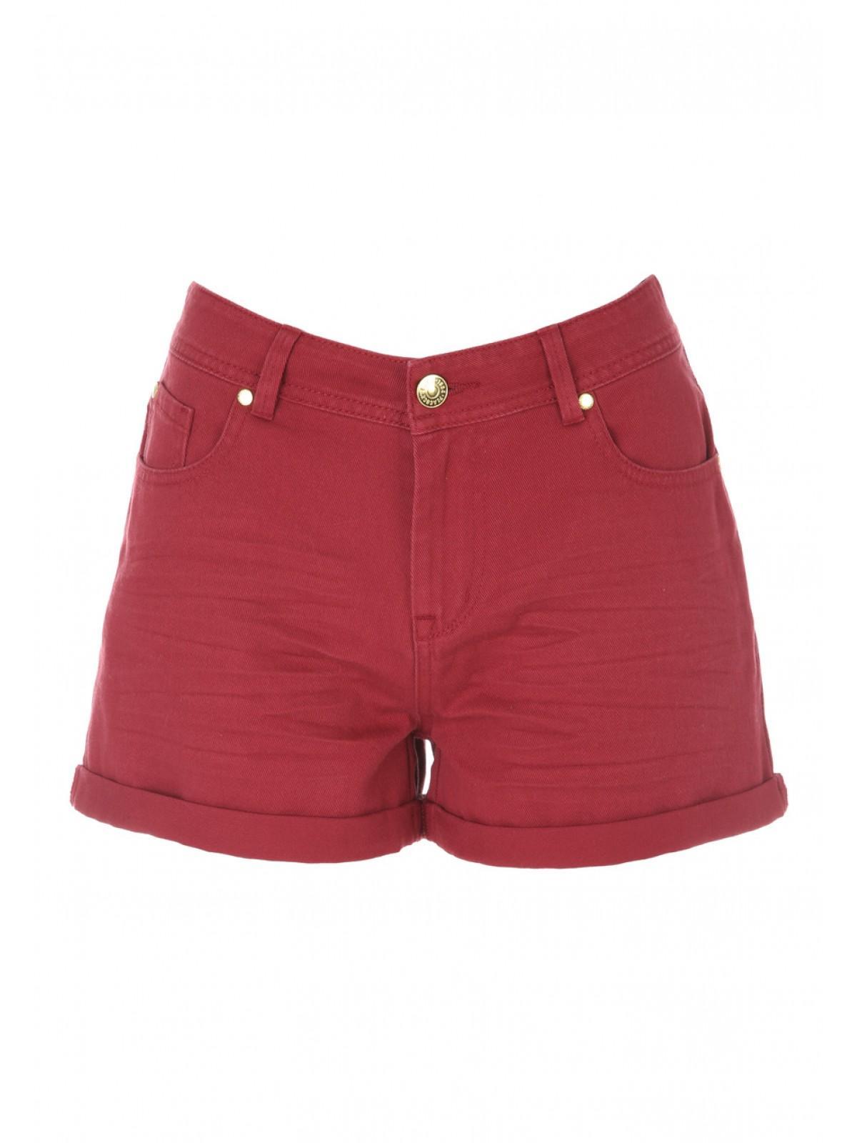 Womens Red Denim Shorts | Peacocks