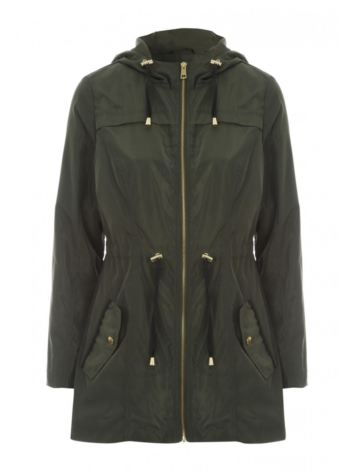 Womens Khaki Lightweight Parka Jacket | Peacocks