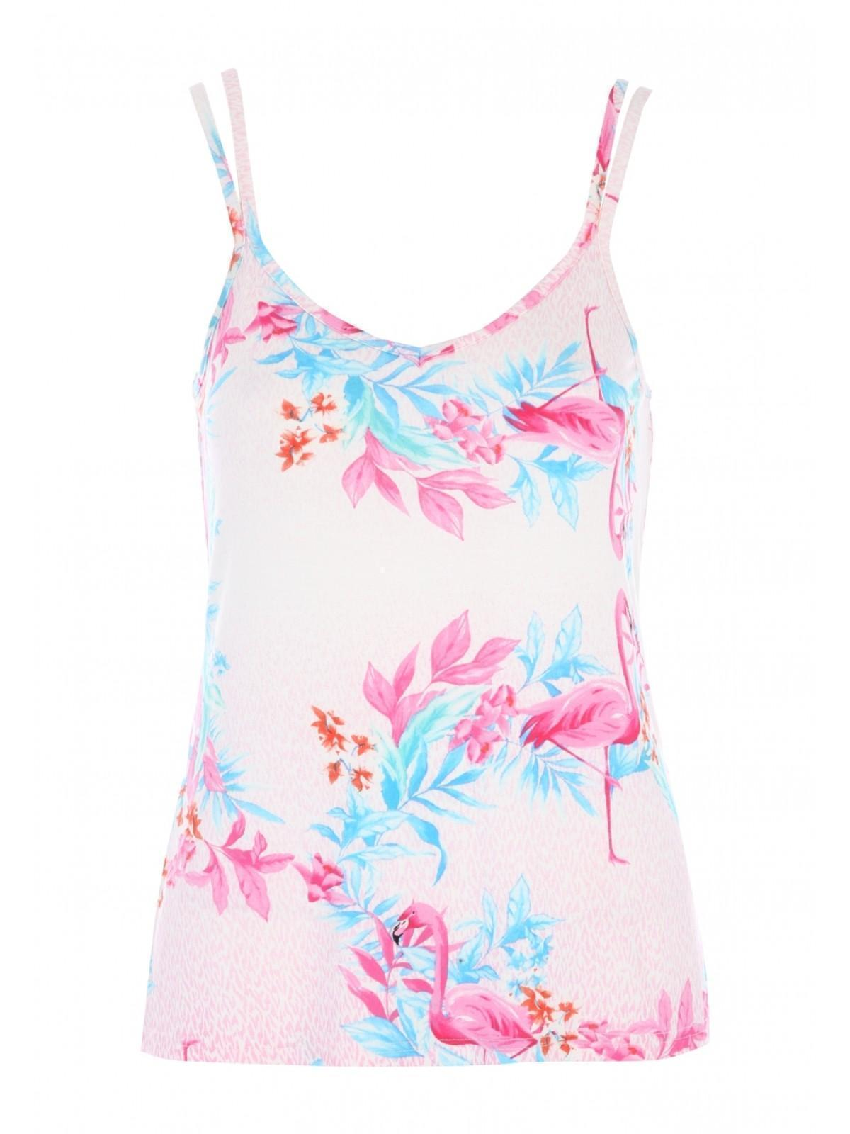 e59763421b86e Womens Pink Flamingo Cami Lounge Top
