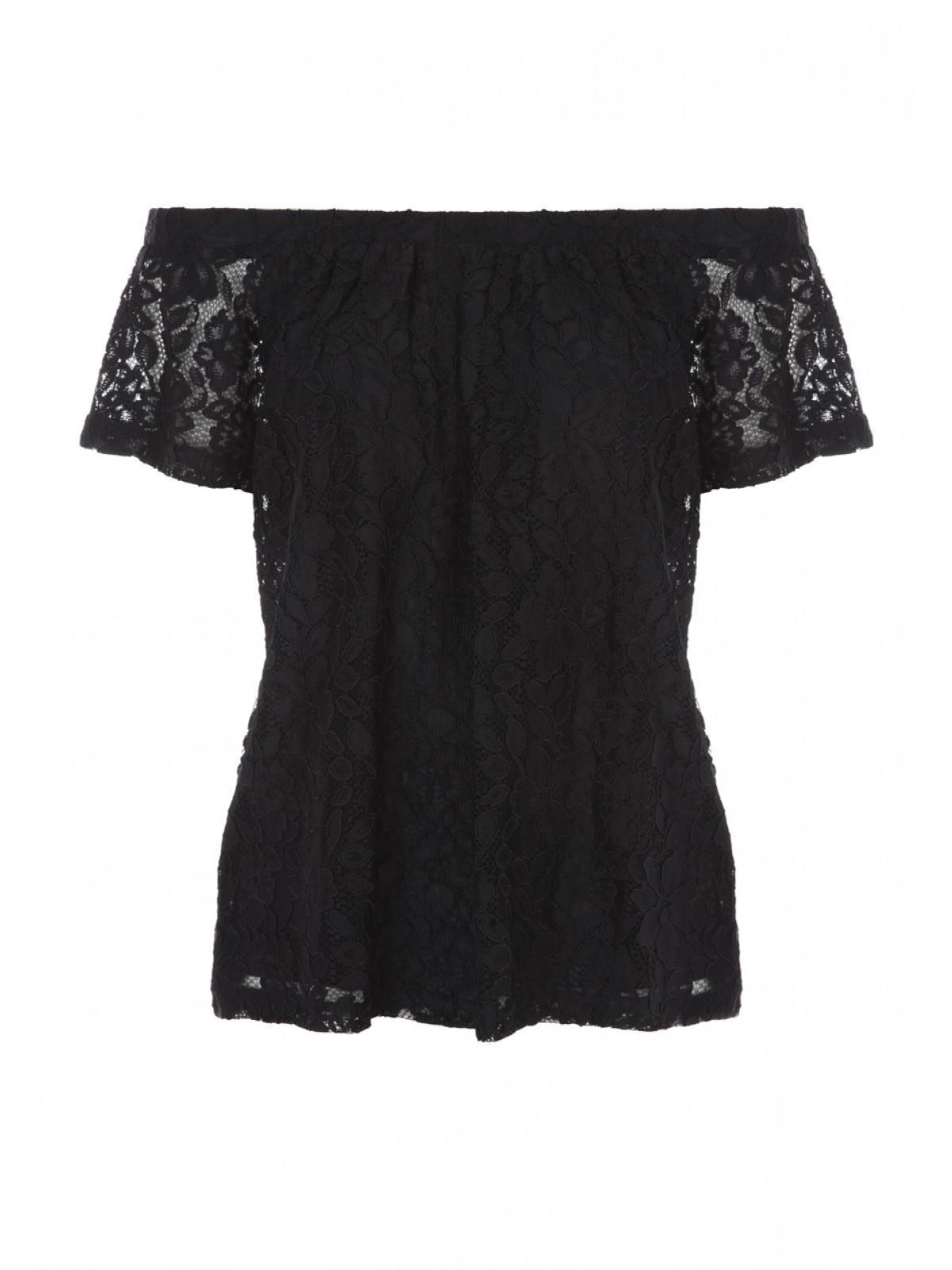 cf80d8f672d18 Womens Black Lace Bardot Top