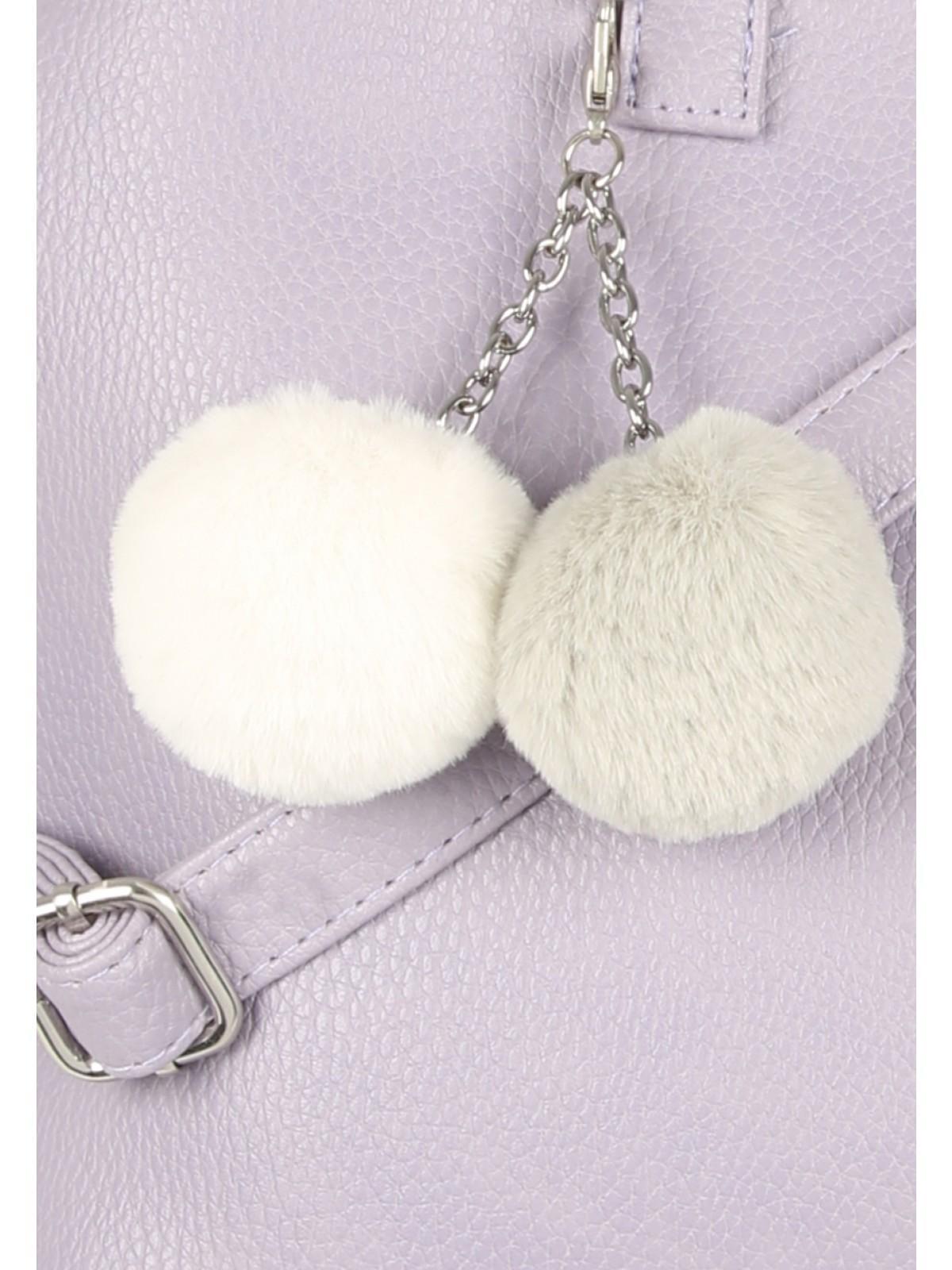 Womens Lilac Pom Bag  0eba306203