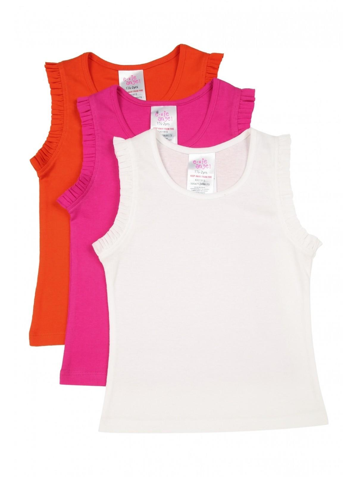 05c891548d6a0b Younger Girls 3pk Vest Tops | Peacocks