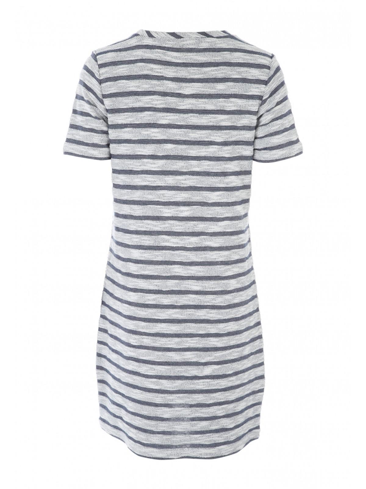 Womens Blue Striped T Shirt Dress  d04704365