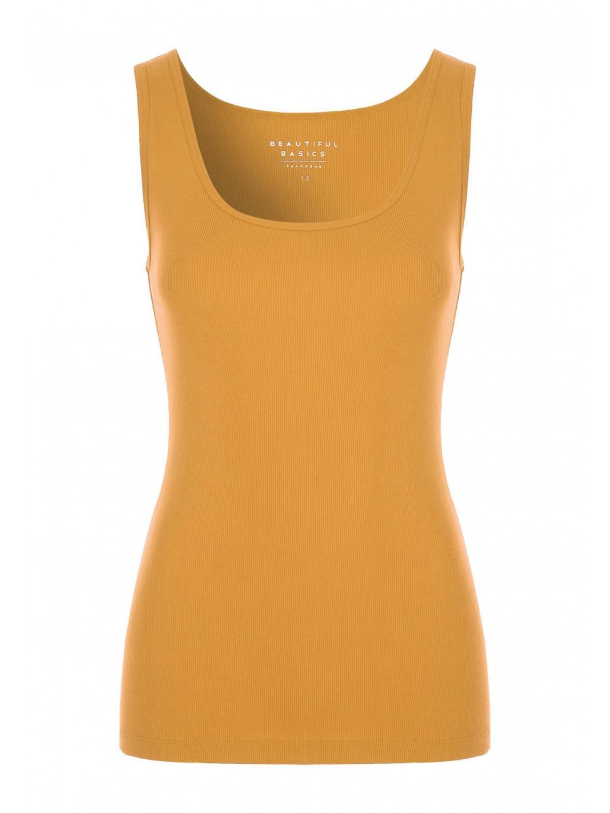 0da954e144b39 Home  Womens Mustard Rib Vest Top. Back. PreviousNext