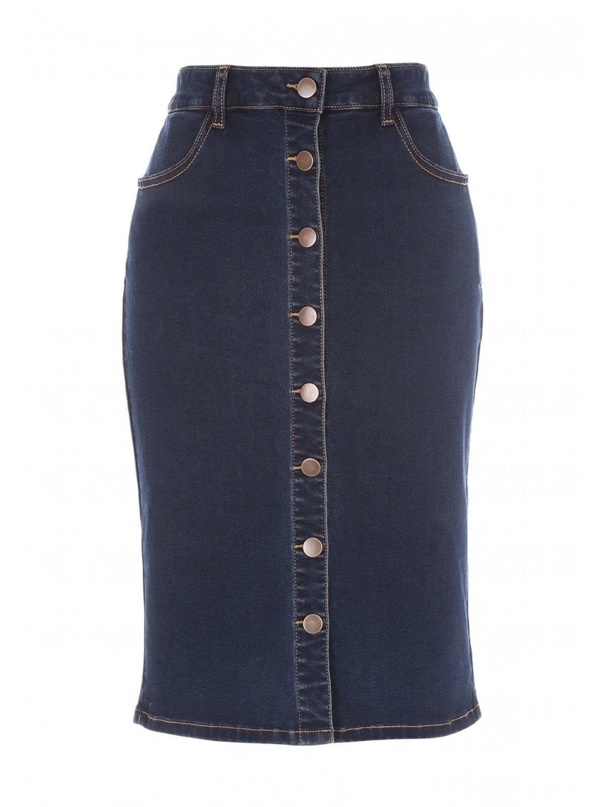 24e9a087cc ... Button Through Pencil Skirt. Back. PreviousNext