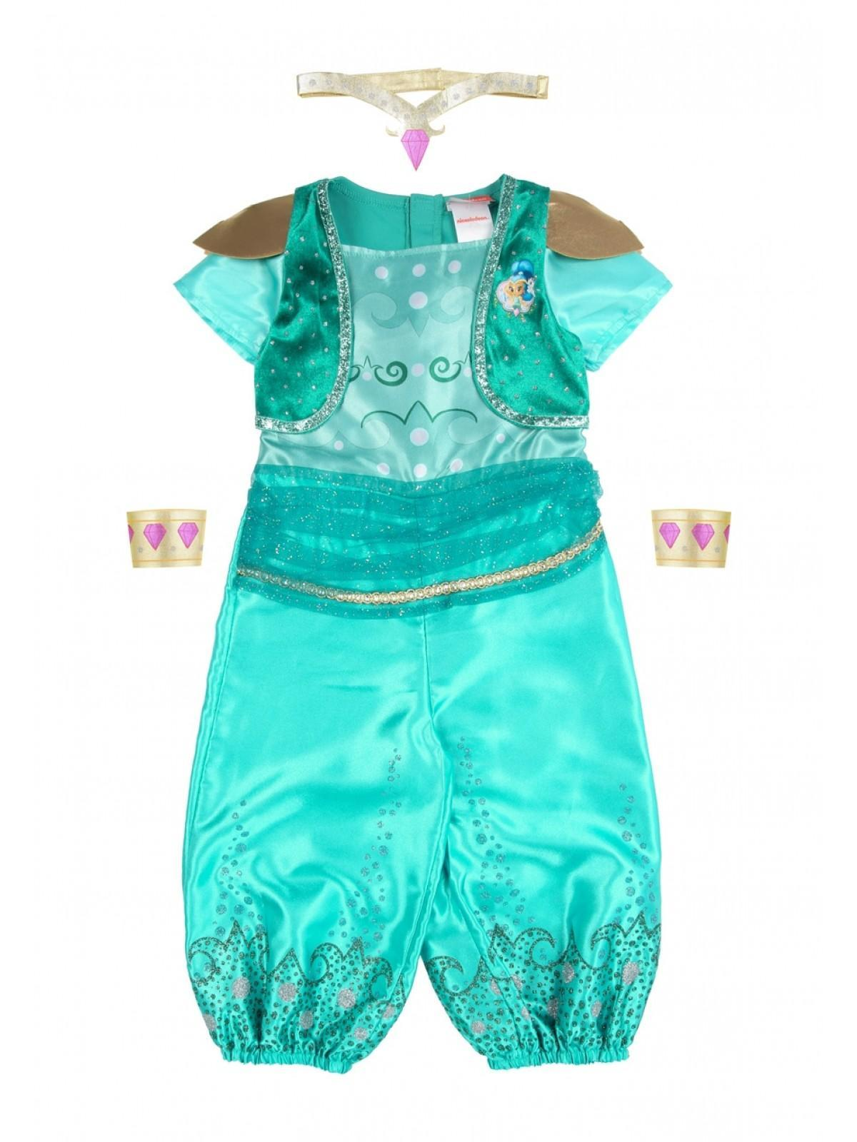 c2ae2bef61 Home; Younger Girls Teal Shimmer And Shine Fancy Dress Outfit. Back.  PreviousNext