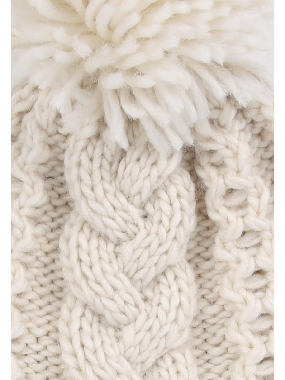Home  Womens Cream Cable Knit Beanie Hat. Back. PreviousNext c1dc79fa7