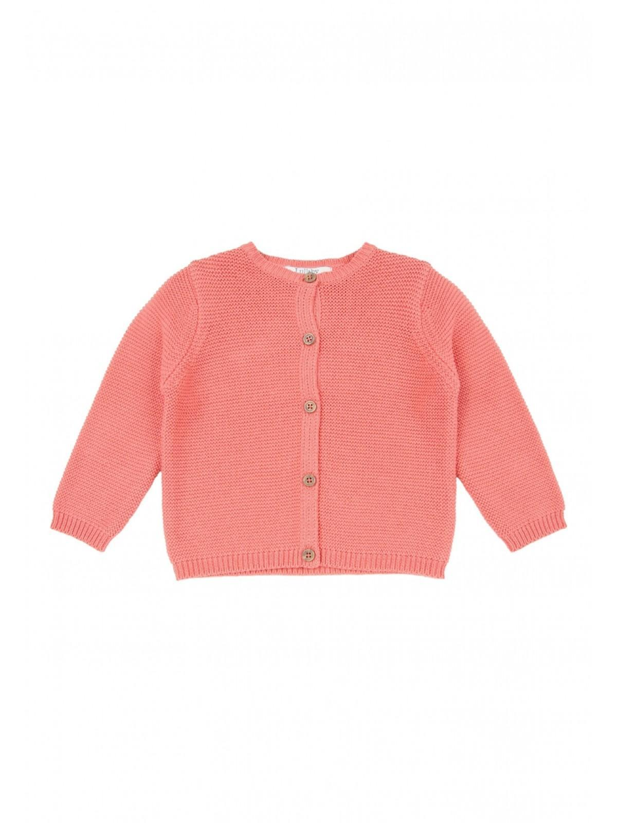 86ee17a4a Baby Girls Pink Chunky Knit Cardigan
