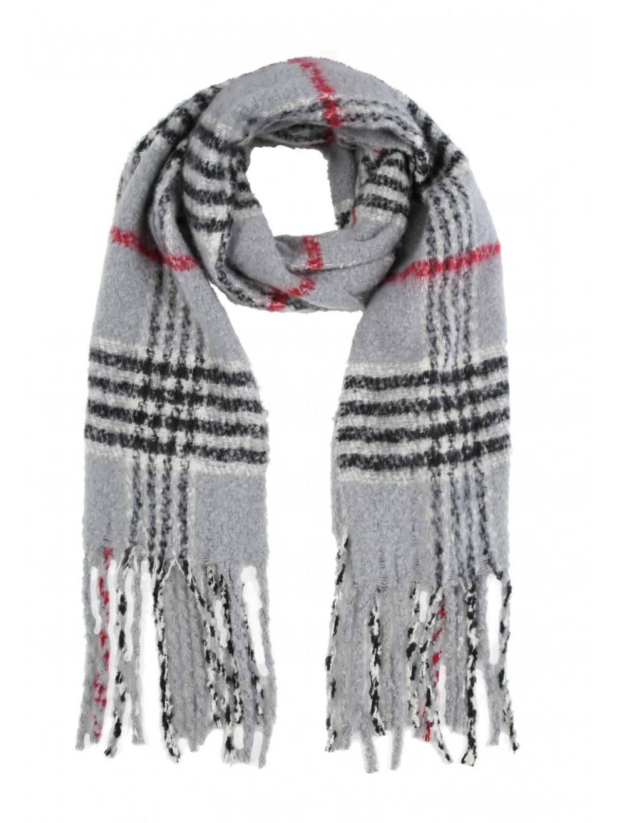 cec8150446bae Home; Womens Grey Check Oversized Scarf. Back. PreviousNext