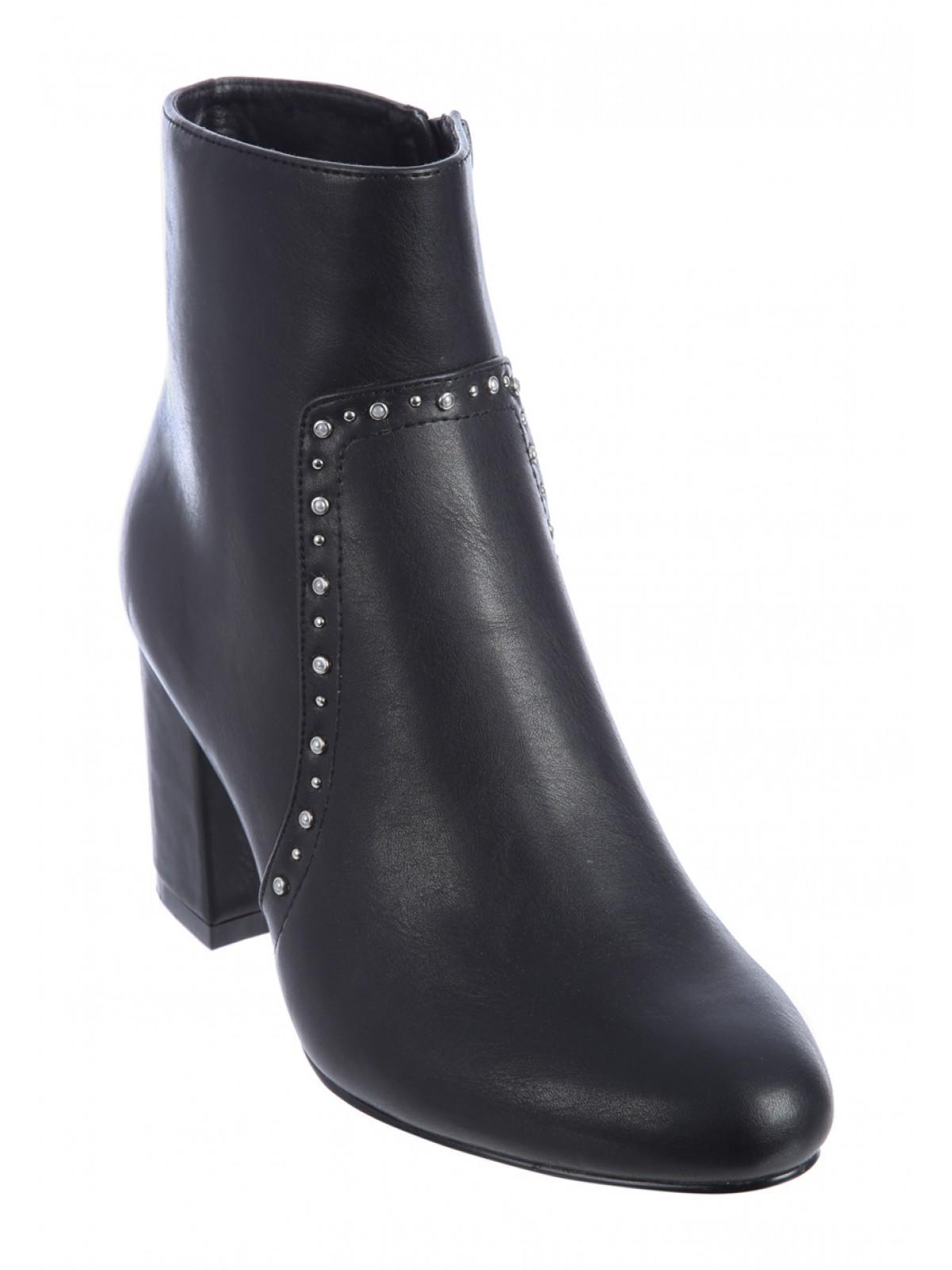 159c0801e1 Home; Womens Black Studded Ankle Boots. Back. PreviousNext
