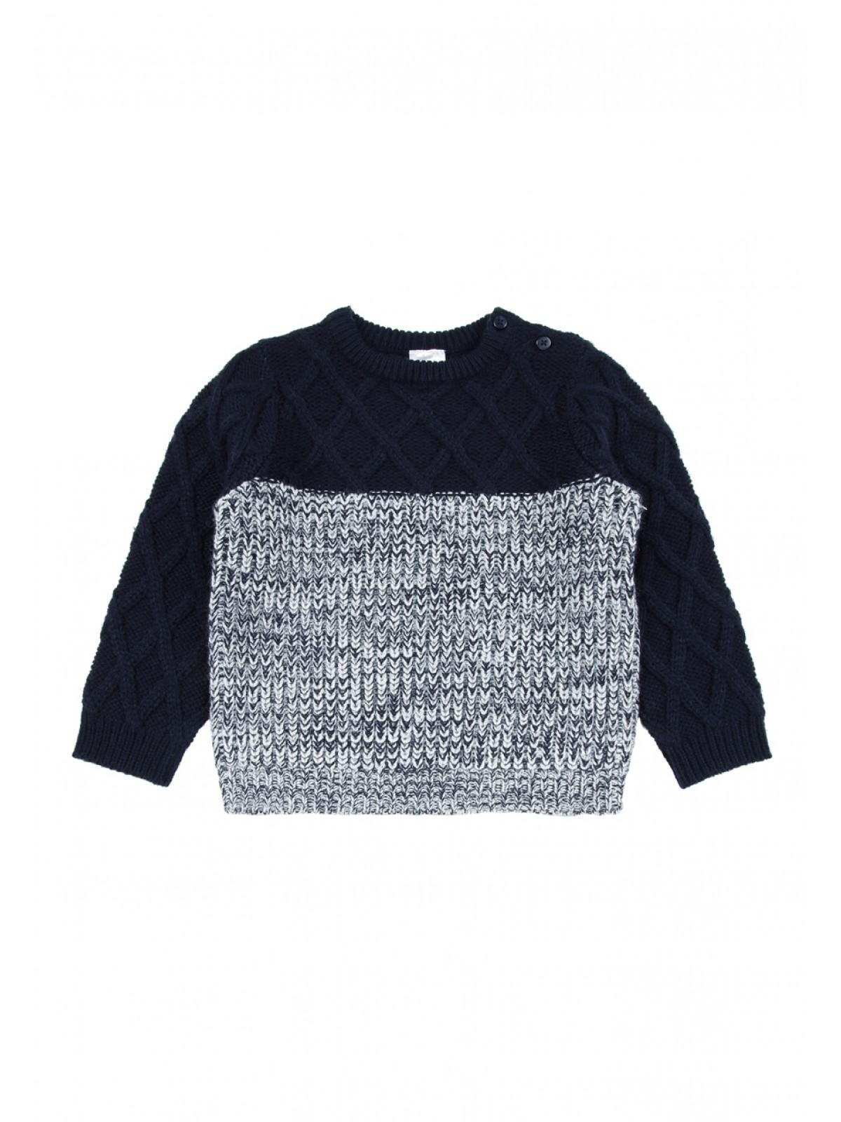 21eb1f116 Home; Baby Boys Navy Cable Knit Jumper. Back. PreviousNext