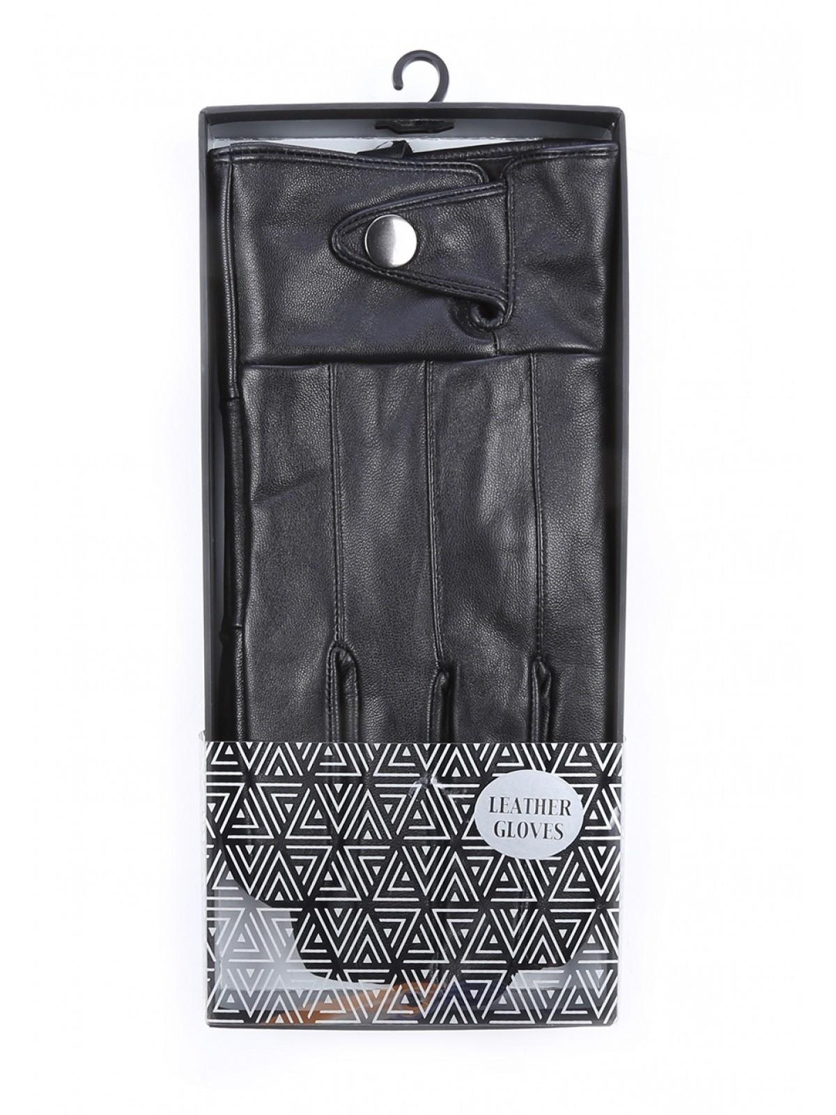 Mens Black Leather Gloves Gift Box