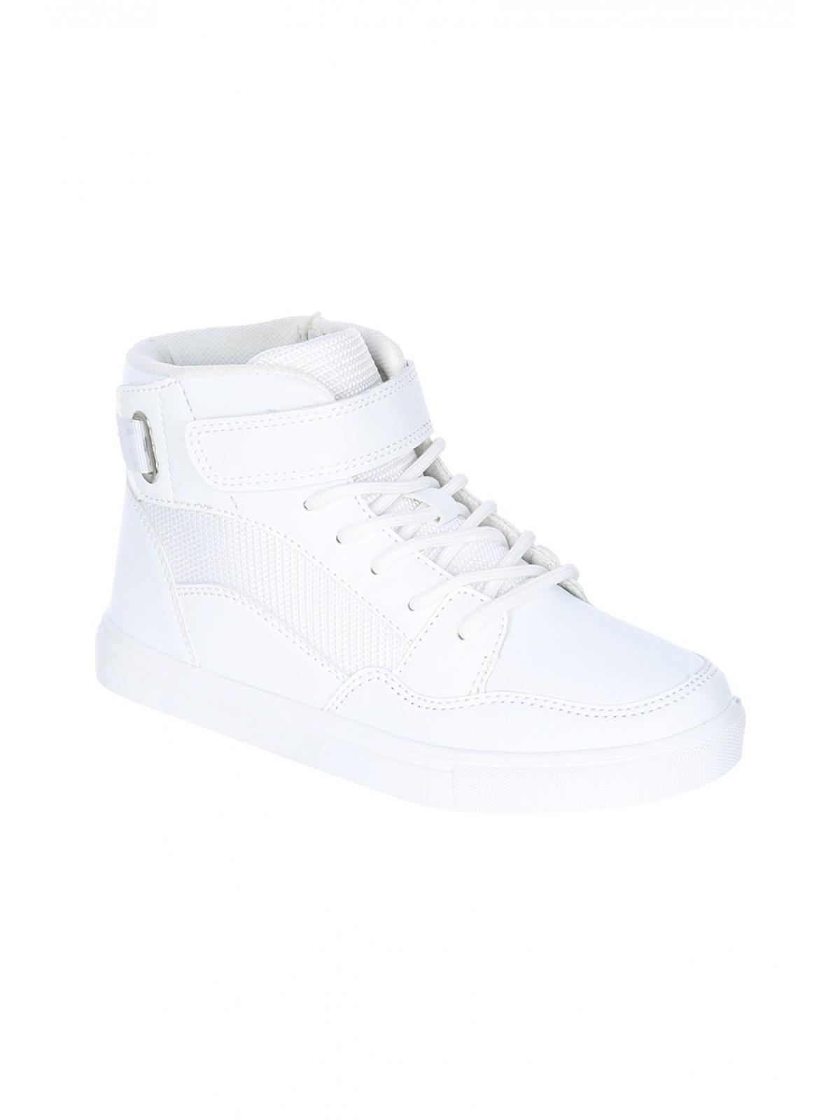 f07bfa6d6e099 Home; Older Boys White Velcro High Top Trainers. Back. PreviousNext
