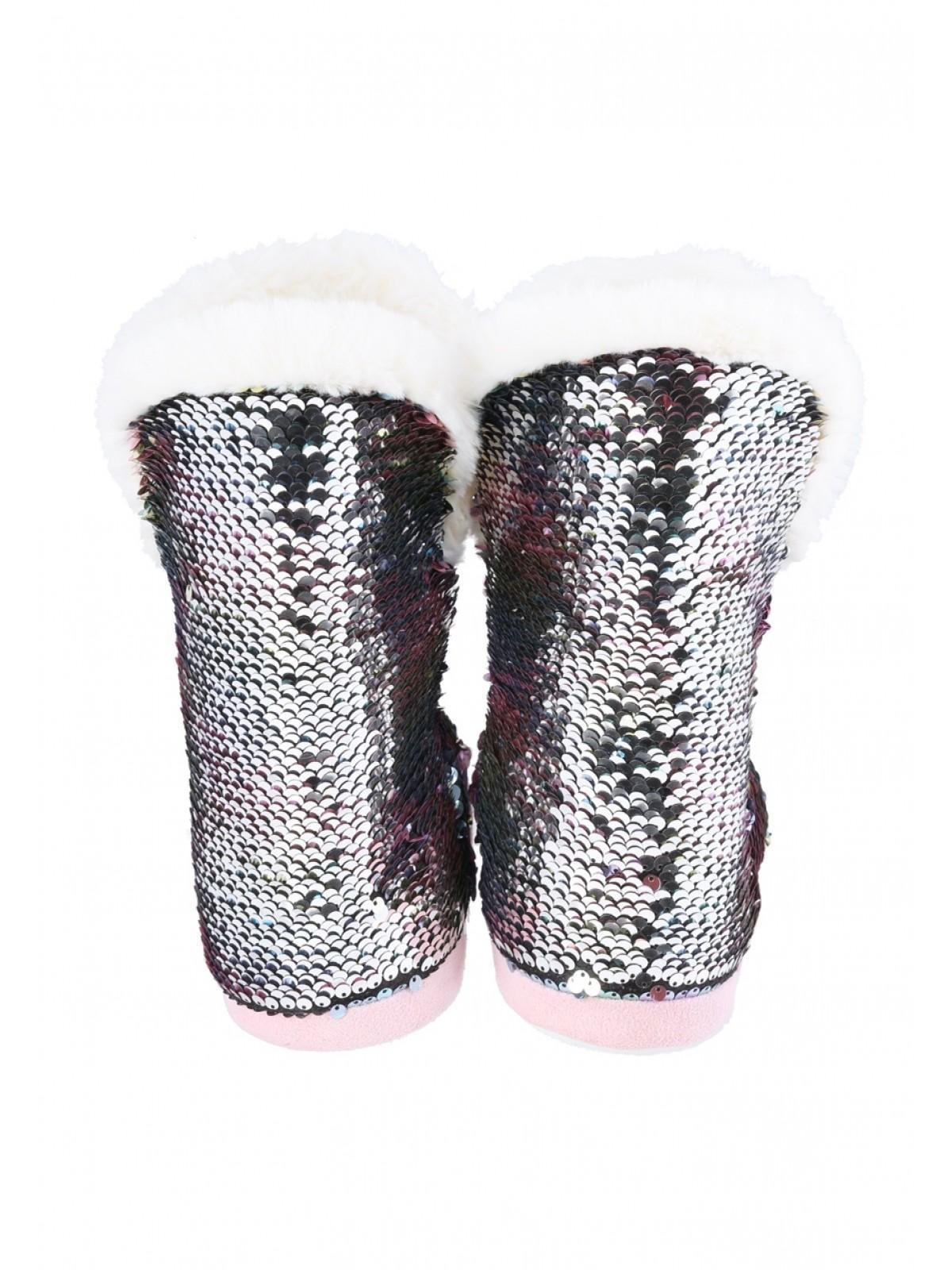 13566b01cfad Home; Womens Multicolour Flip Sequin Slipper Boots. Back. PreviousNext