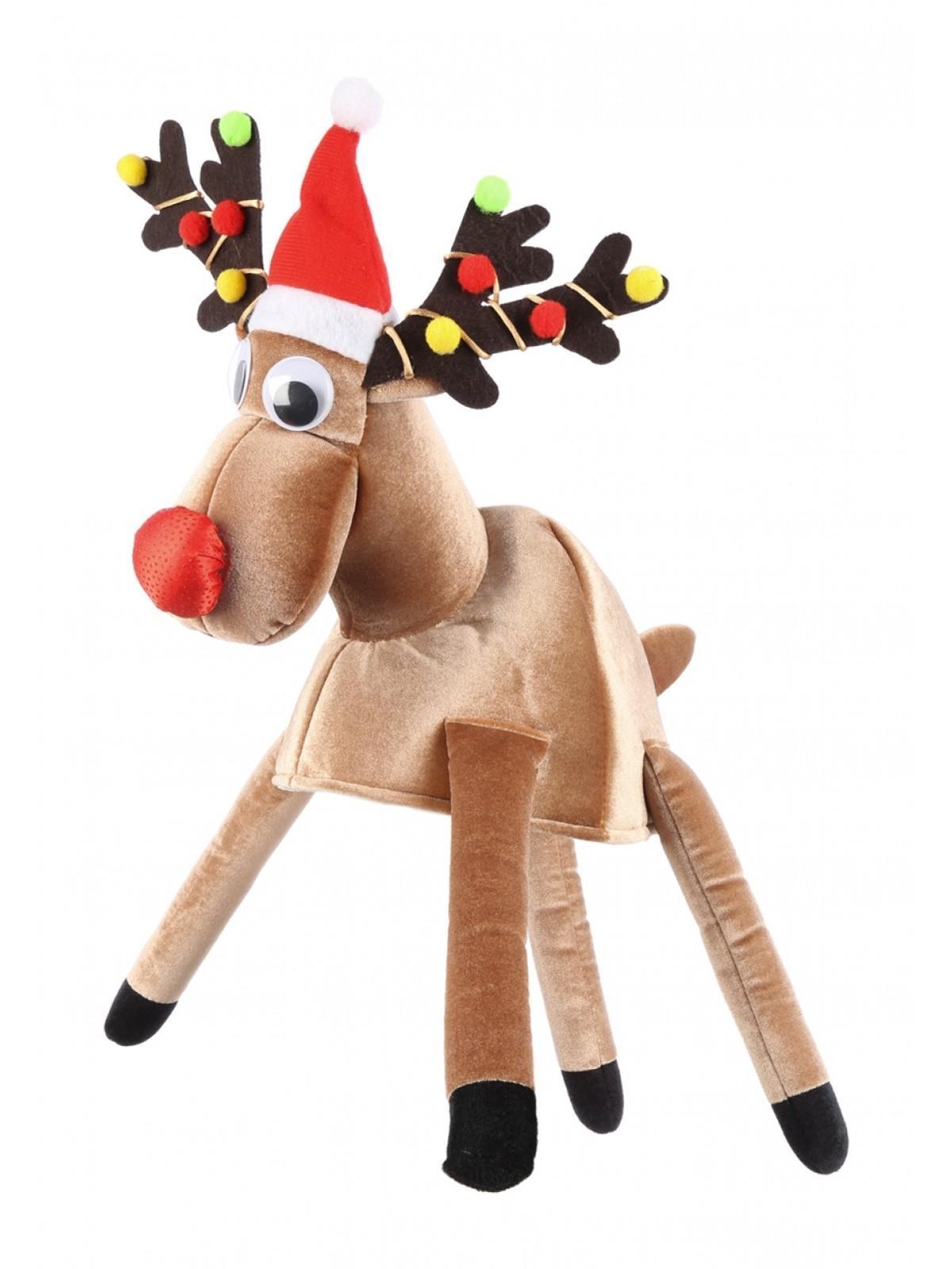 e2f076218 Novelty Reindeer Hat