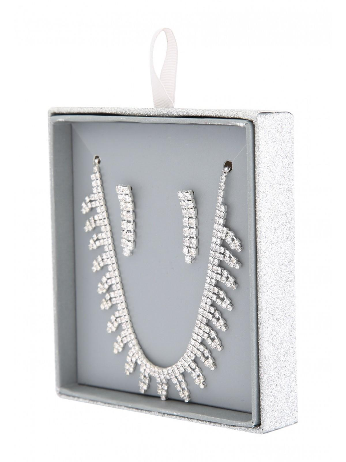 This beautiful diamante necklace and earring set is perfect for those who love to be glam and glitzy.