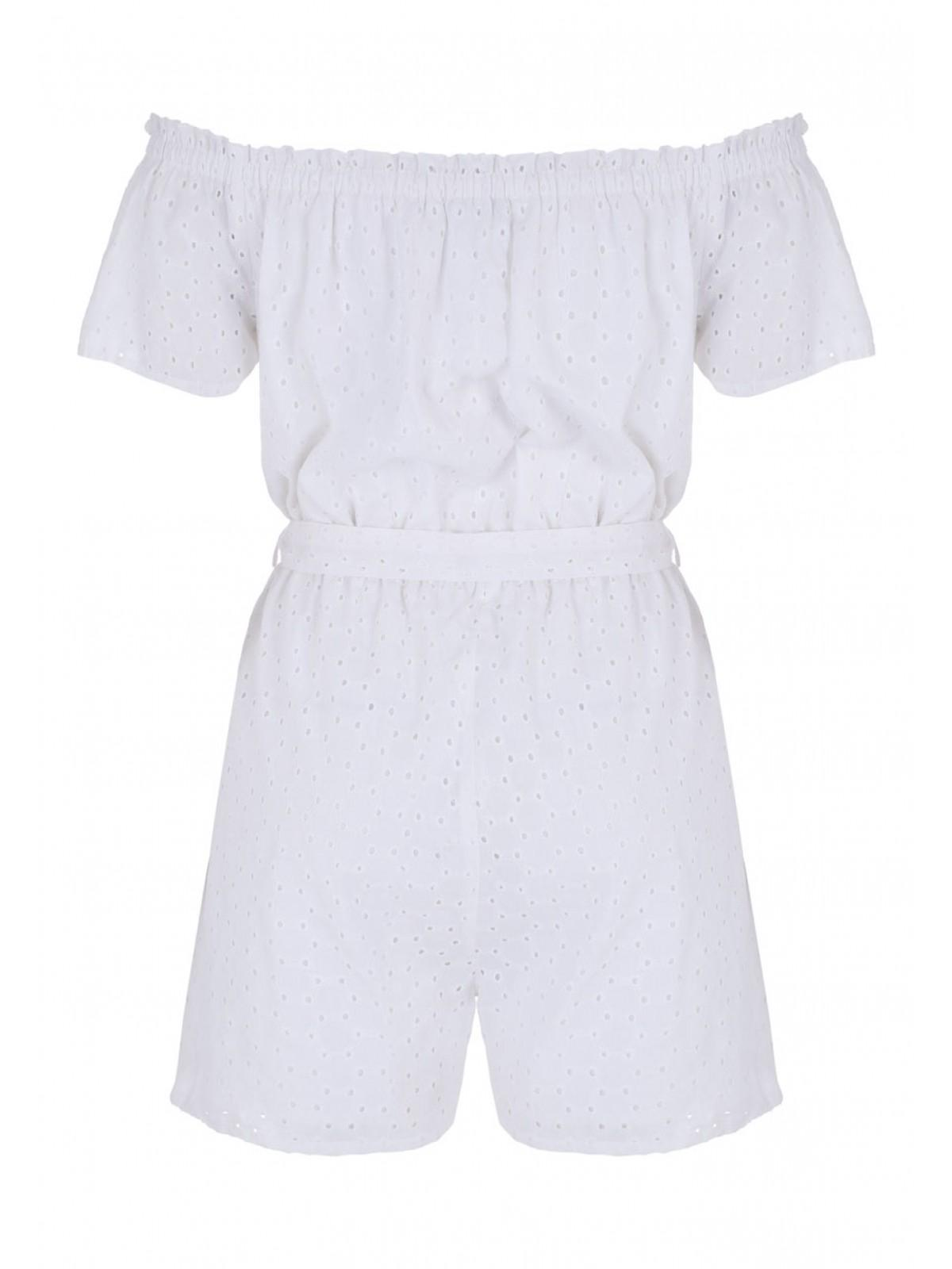 3d985be6f Home; Womens White Broderie Bardot Playsuit. Back. PreviousNext