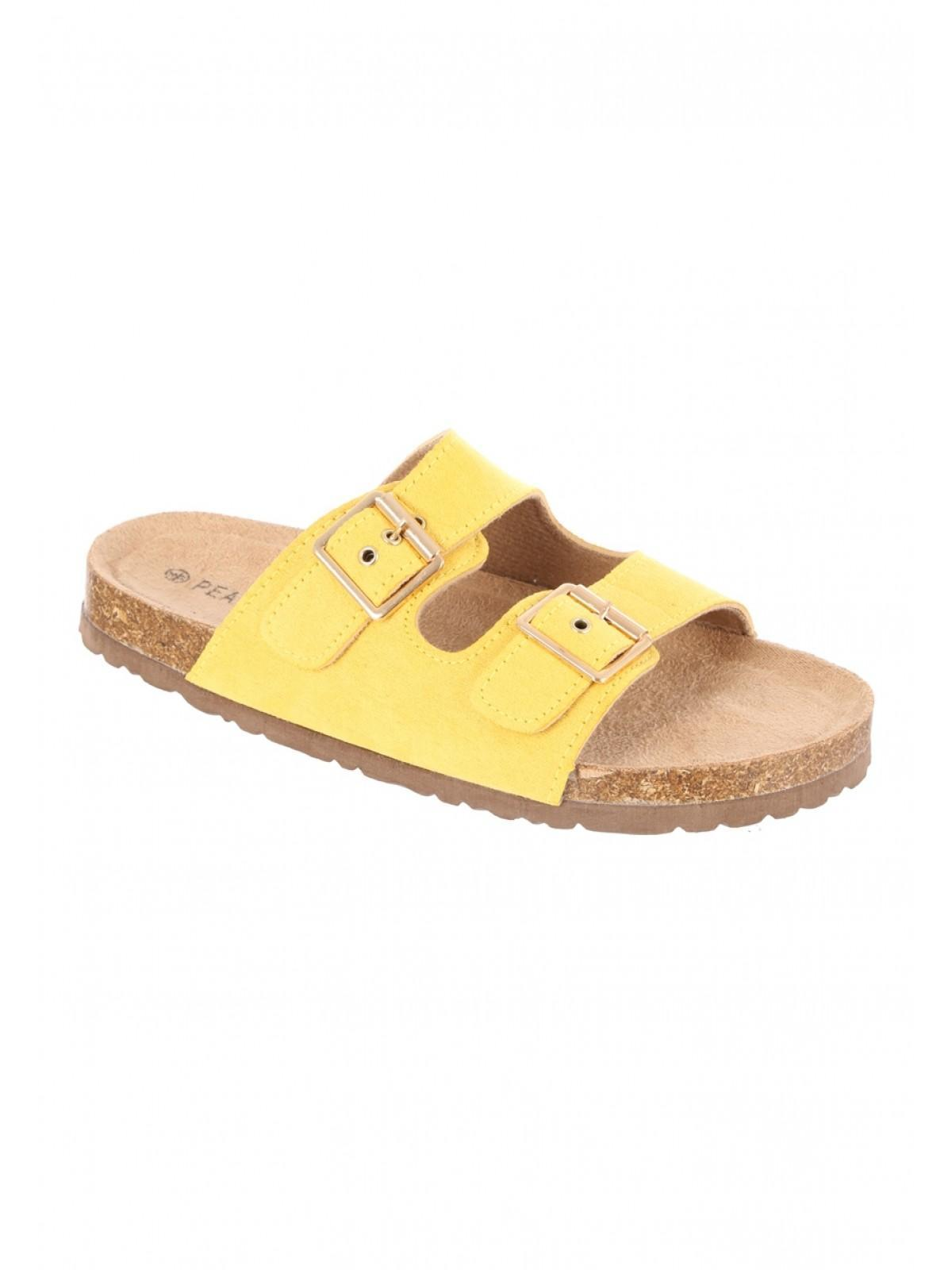 a98060af17cd3 Home; Womens Mustard Double Buckle Footbed Sandals. Back. PreviousNext