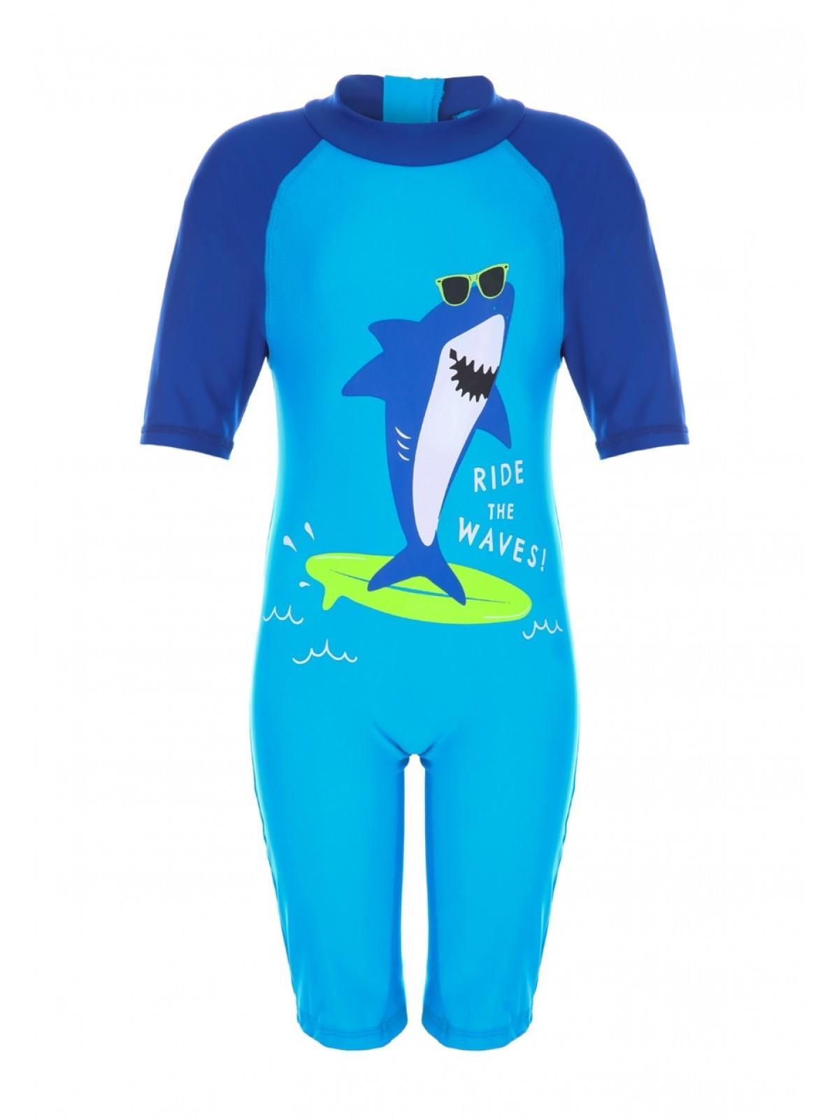 6592a612254d0 Home; Younger Boys Blue Shark Sun Safe Swimsuit. Back. PreviousNext