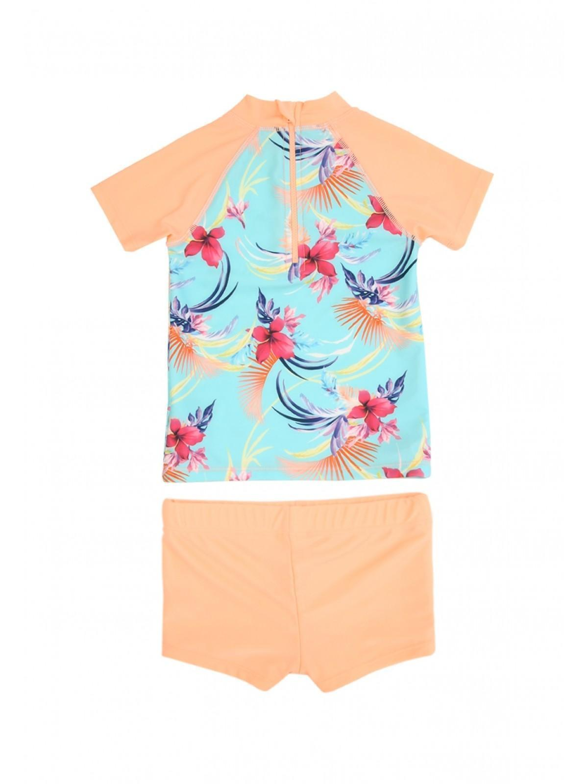 31690f8616270 Younger Girls Coral Sun Safe Swimsuit | Peacocks