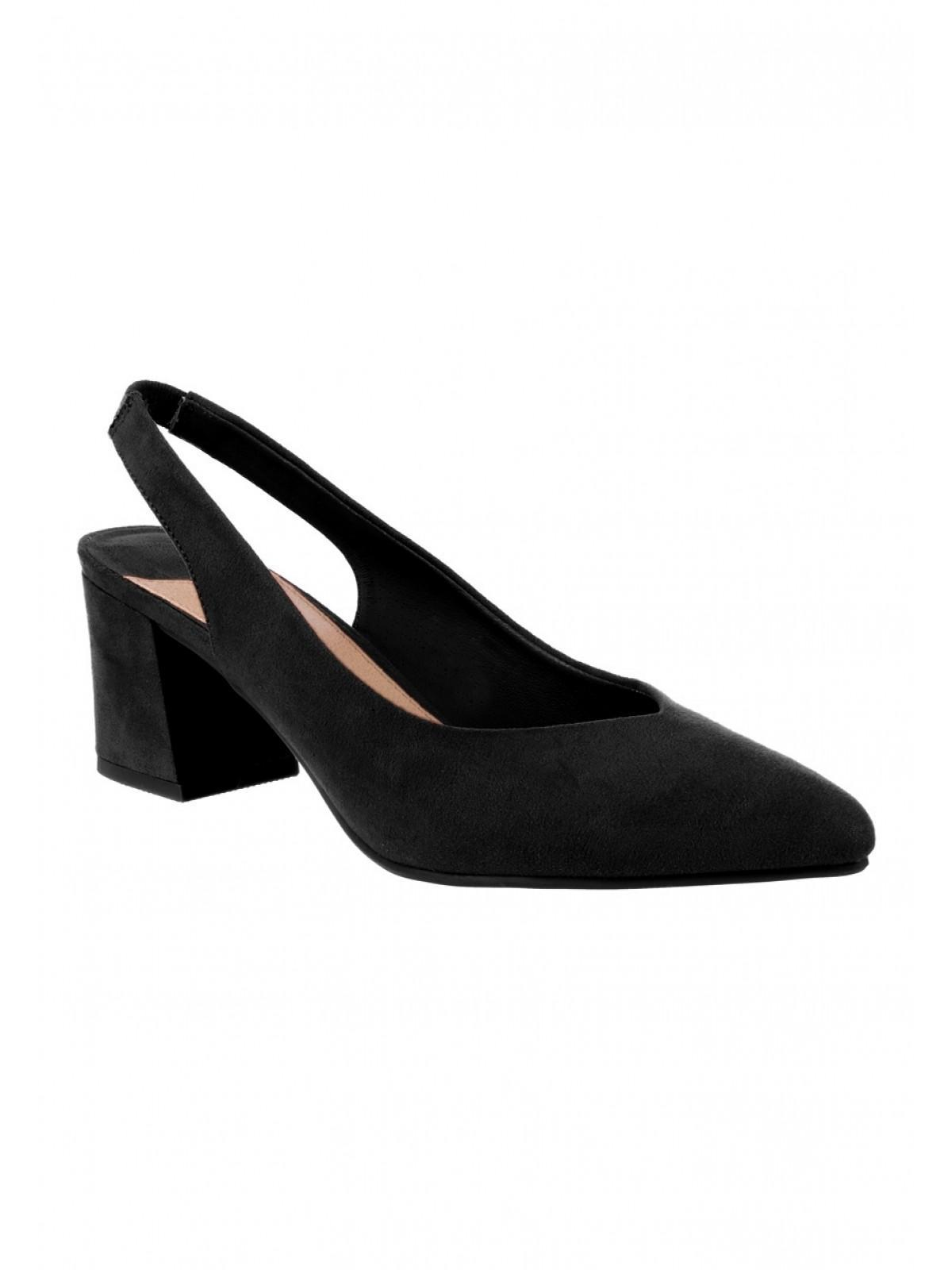 f74140d2aec3c Womens Black Sling Back Block Heels | Peacocks