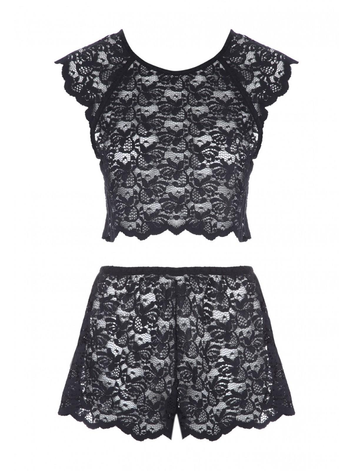 f37f2acd11f3f0 Home; Womens Black Lace Top And Short Set. Back. PreviousNext