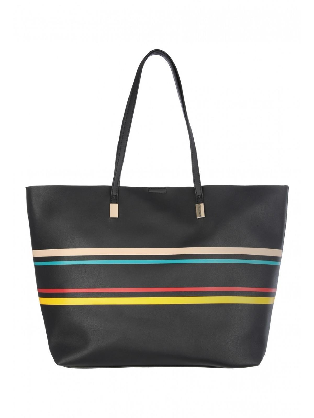 c05faf8be62 Home; Womens Black Stripe Tote Bag. Back. PreviousNext