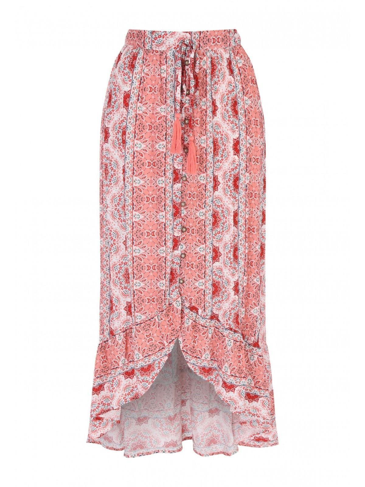 2dace80eef Home; Womens Orange Paisley Dipped Hem Skirt. Back. PreviousNext