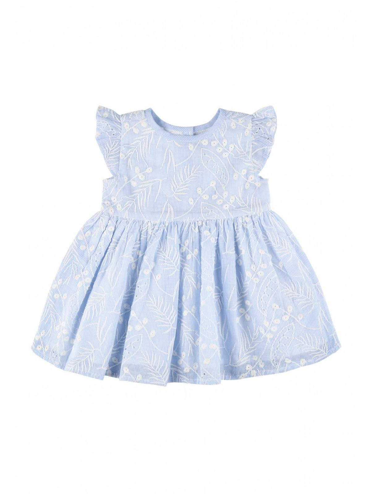 Baby Girls Light Blue Embroidered Dress