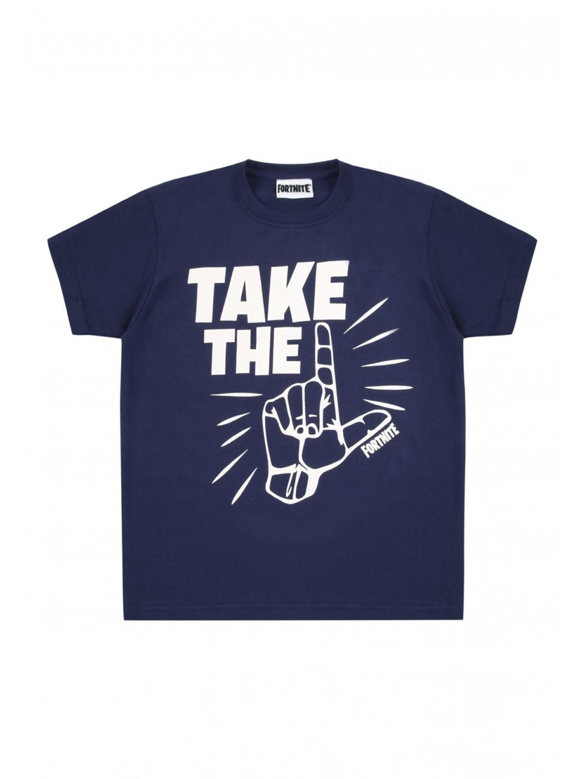 c3e3d6e45 Home; Older Boys Navy Fortnite Take The L Slogan T-shirt. Back. PreviousNext