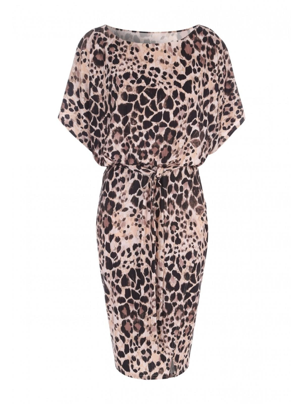 b978cf51f400 Home; Womens Envy Leopard Print Belted Dress. Back. PreviousNext
