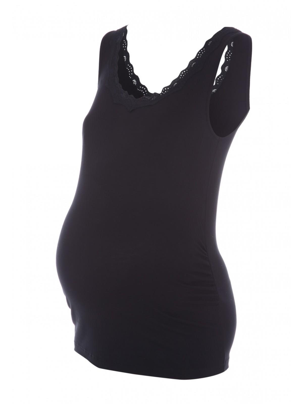 d48a3610c21 Maternity Black Lace Trim Vest Top