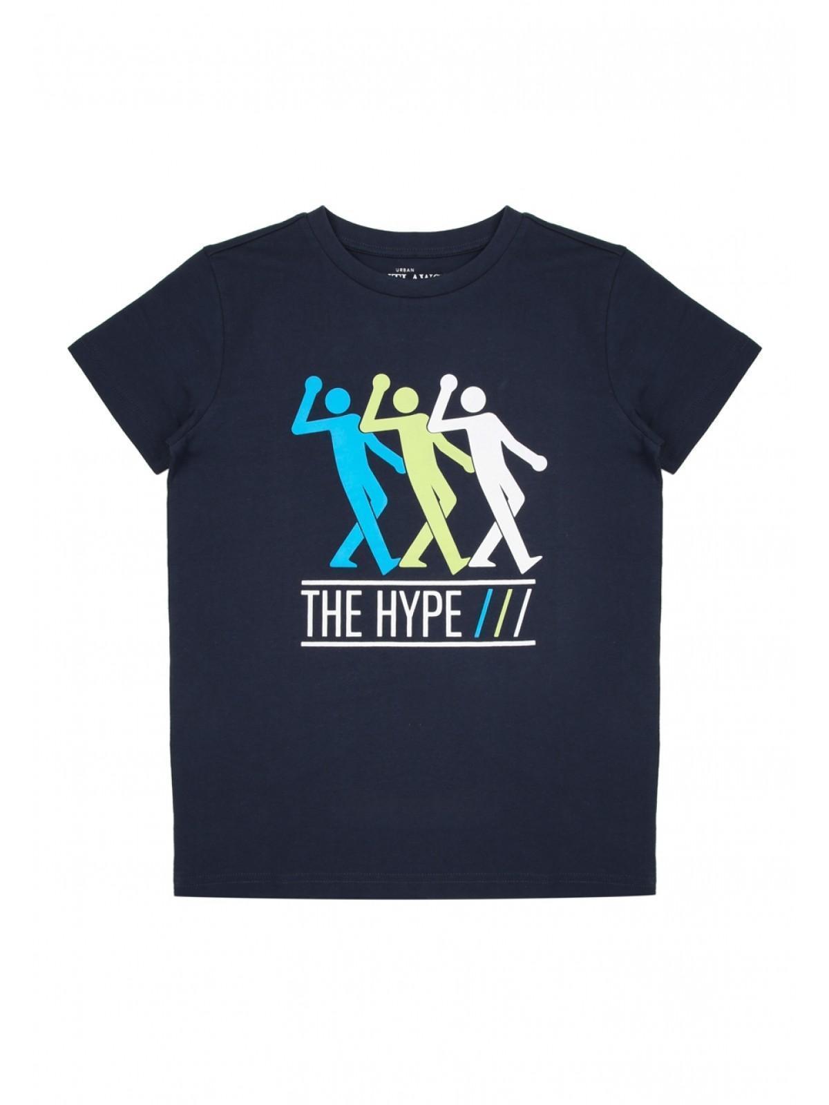 70fd1d4f1 Older Boys Navy Hype Slogan T-Shirt | Peacocks