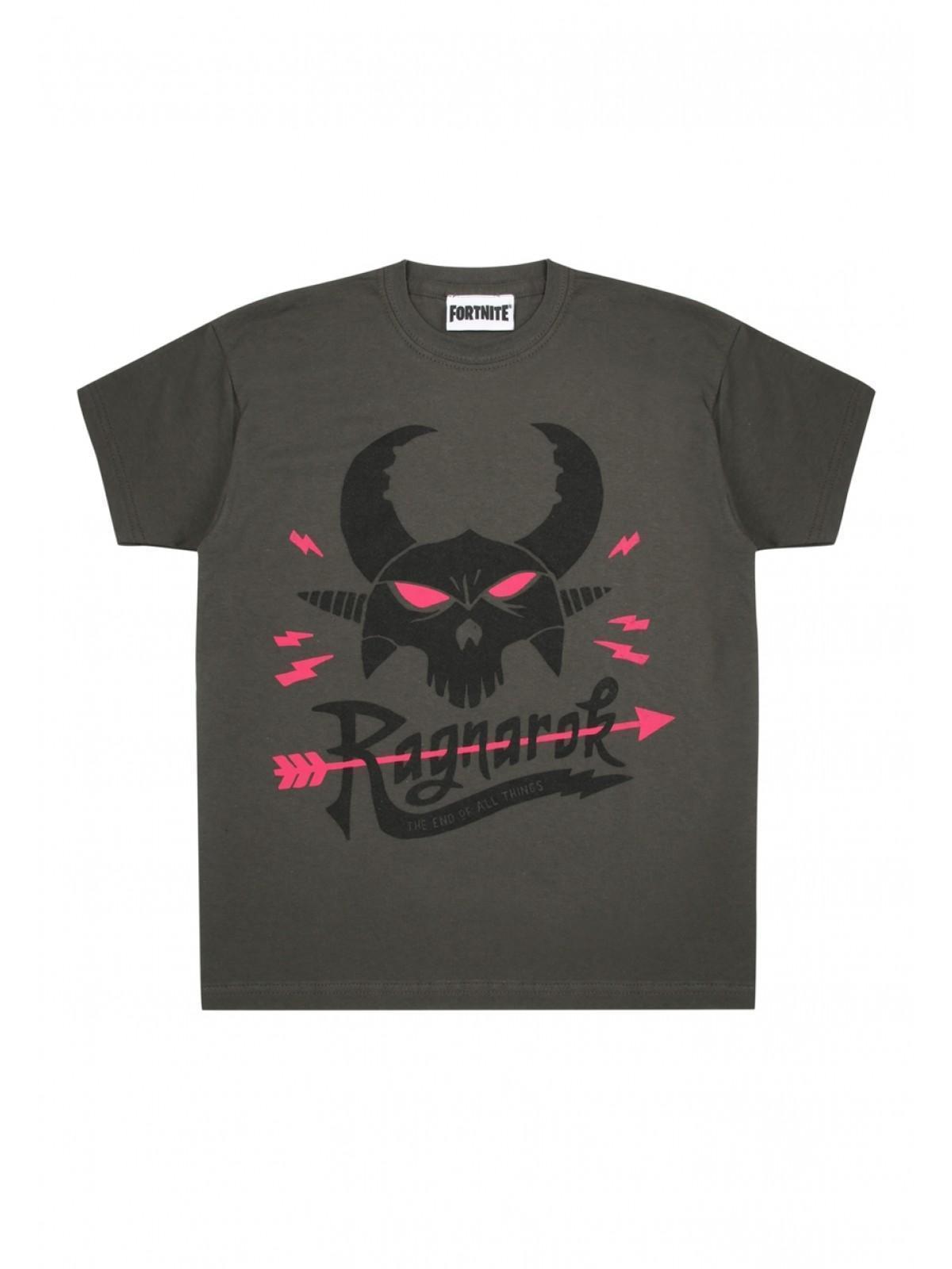 552e682dd Home; Older Boys Charcoal Fortnite Ragnarok T-shirt. Back. PreviousNext