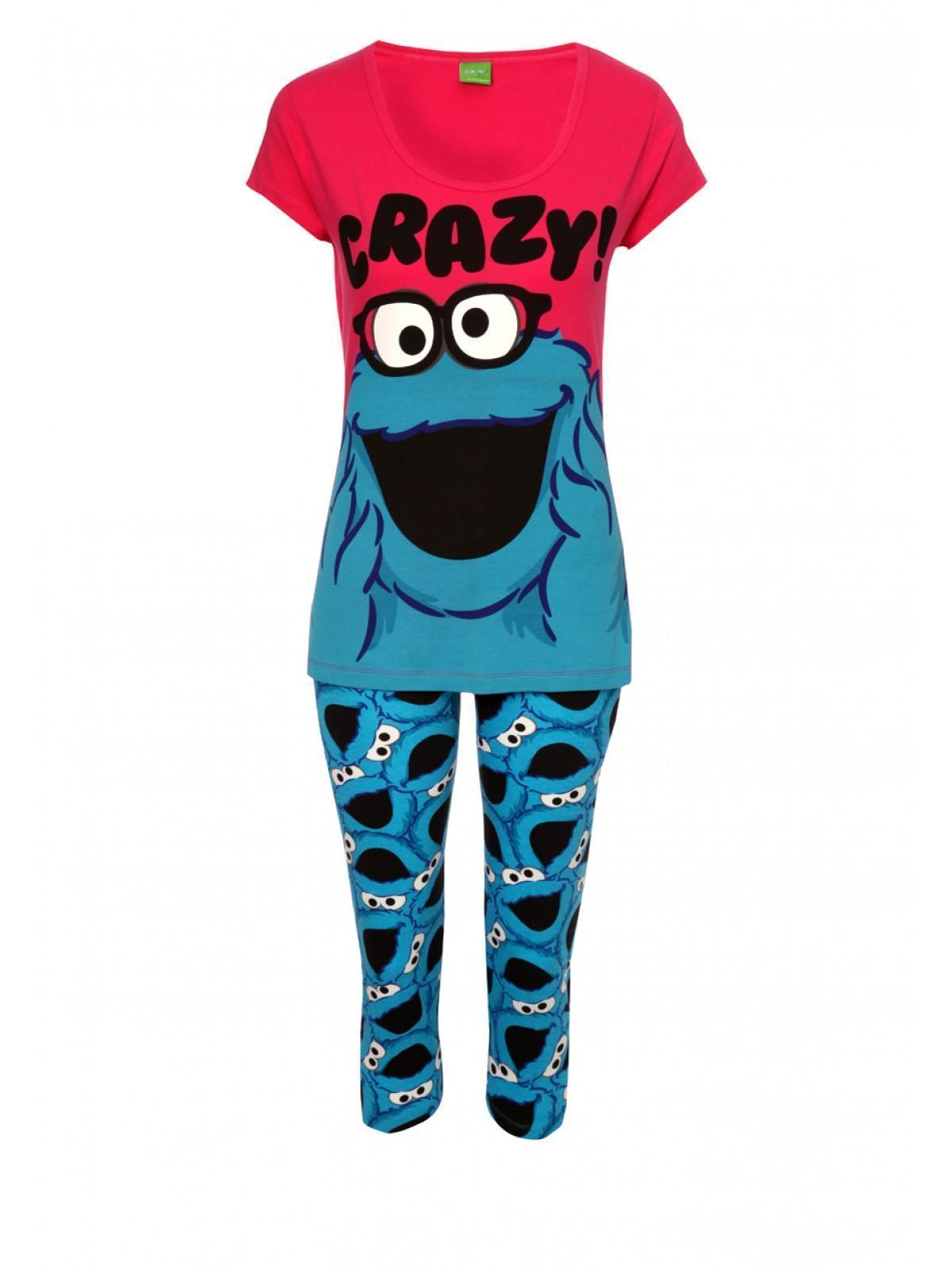 Womens Cookie Monster Pyjama Set