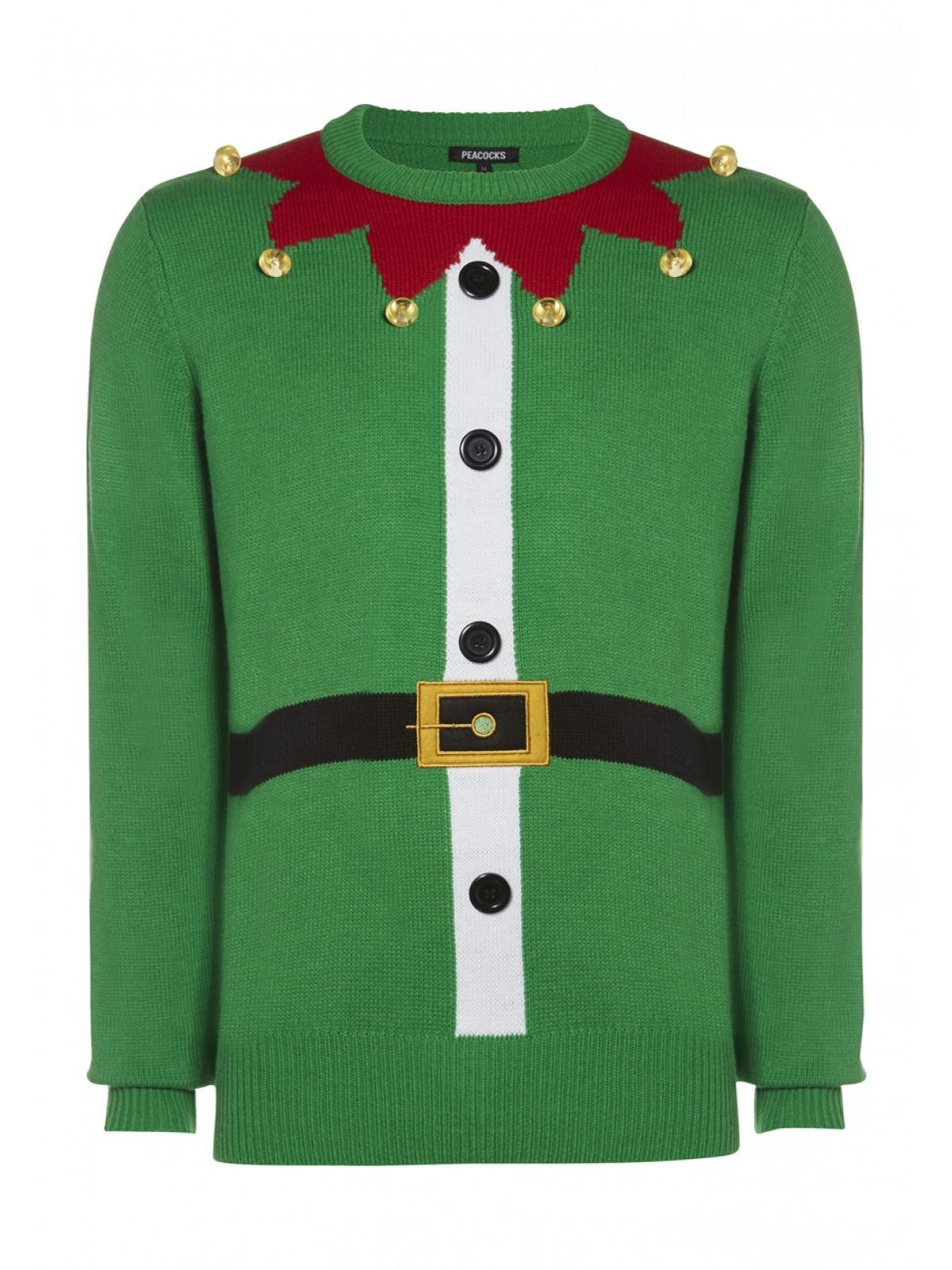 mens elf christmas jumper